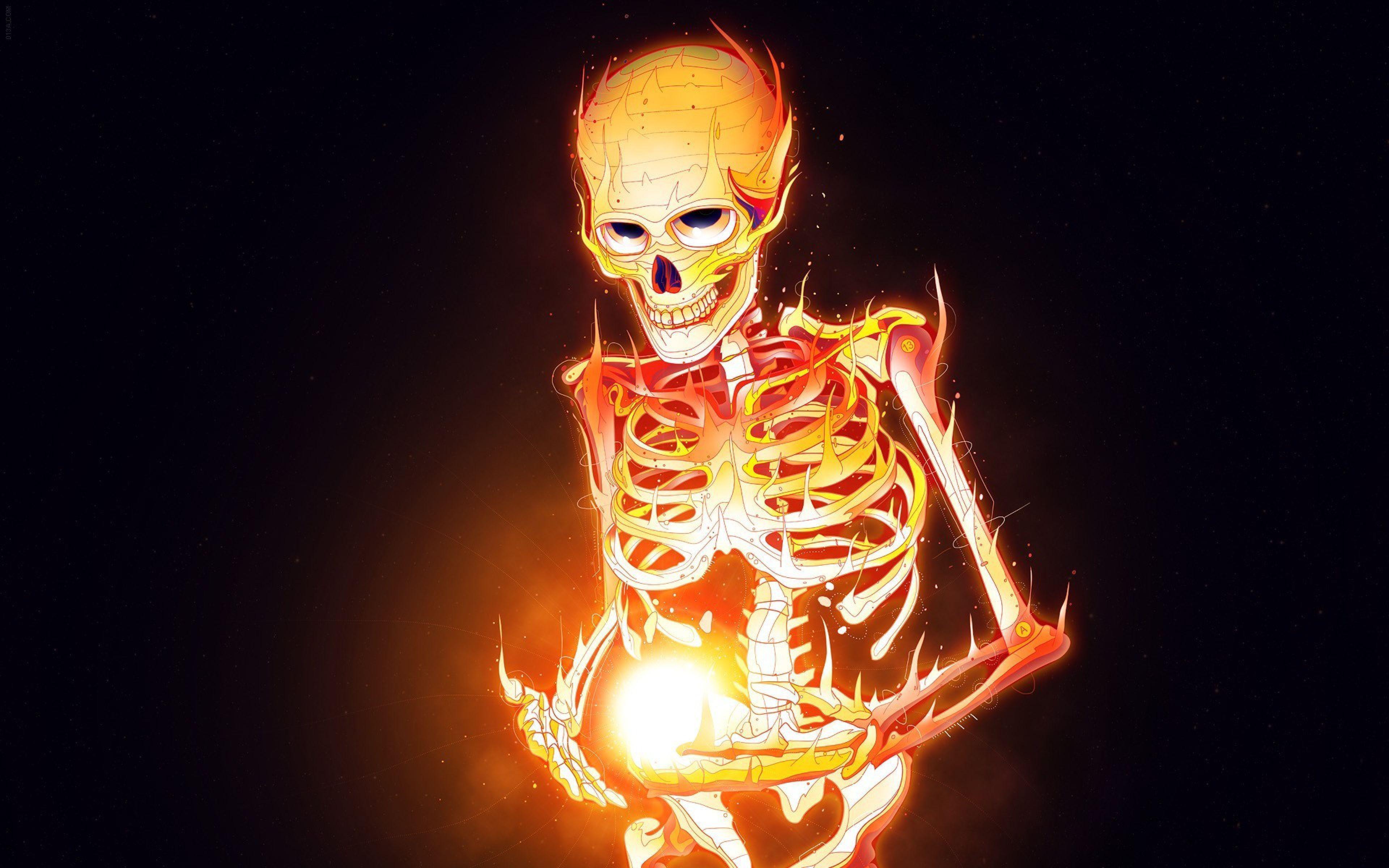 halloween skeleton wallpaper - photo #35