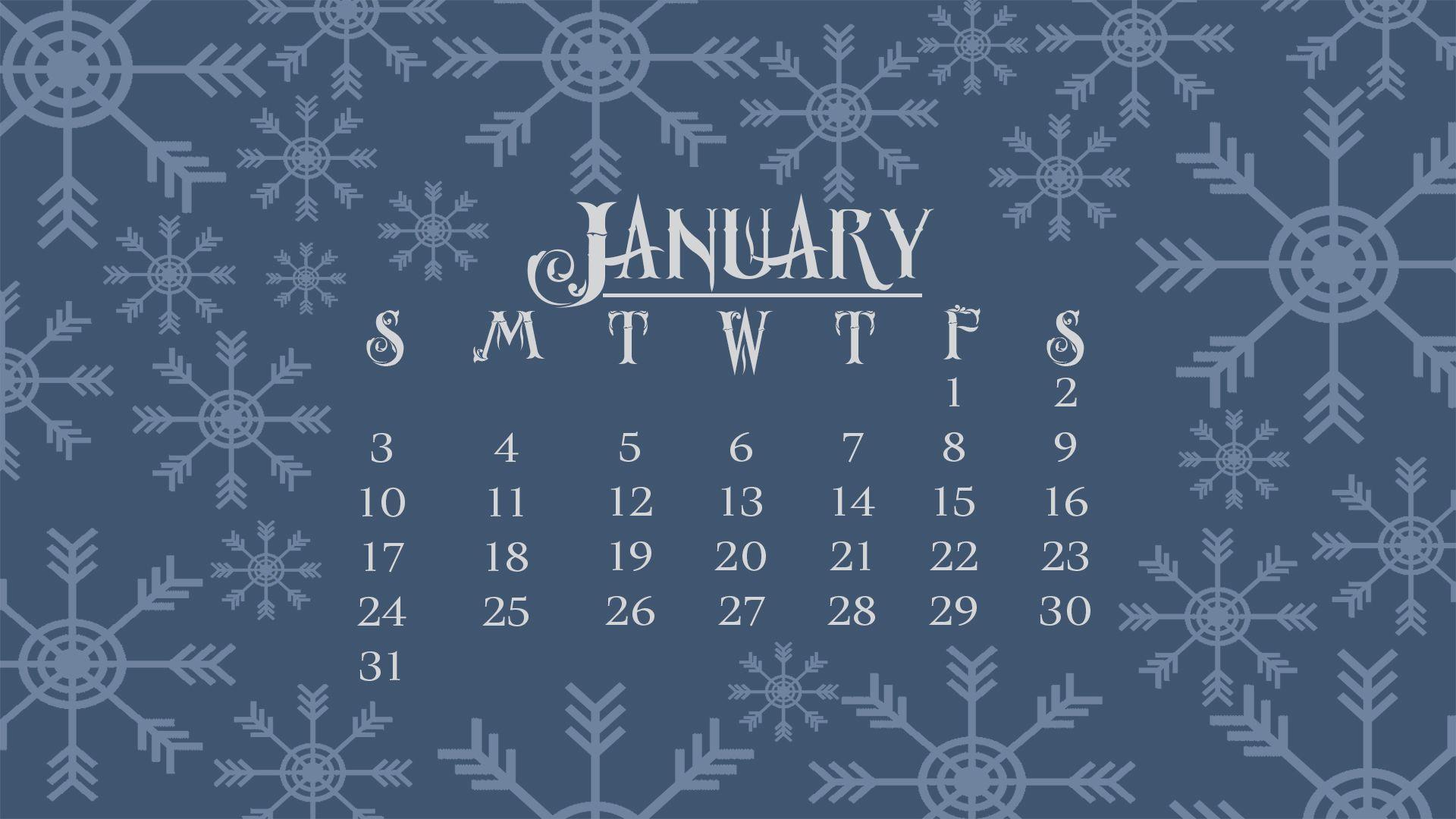 Cute Calendar Wallpaper January : Desktop wallpapers calendar january wallpaper cave