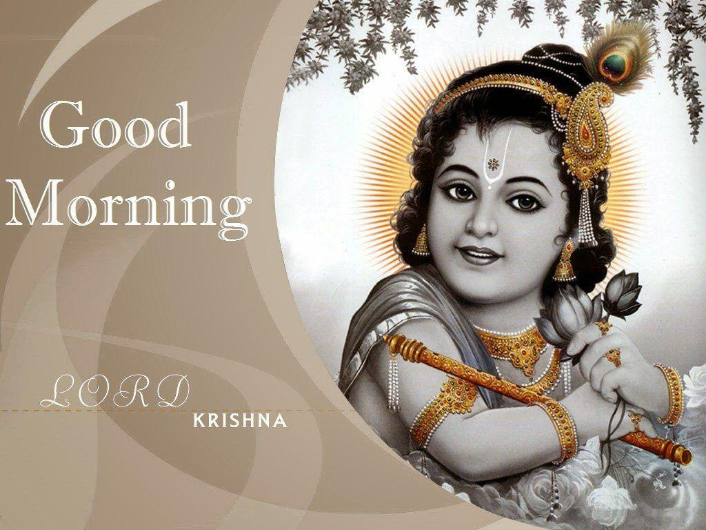 Good Morning Lord Krishna wallpapers HD free Download