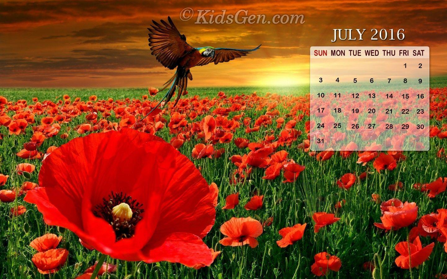 Calendar Wallpaper July : Desktop wallpapers calendar july wallpaper cave