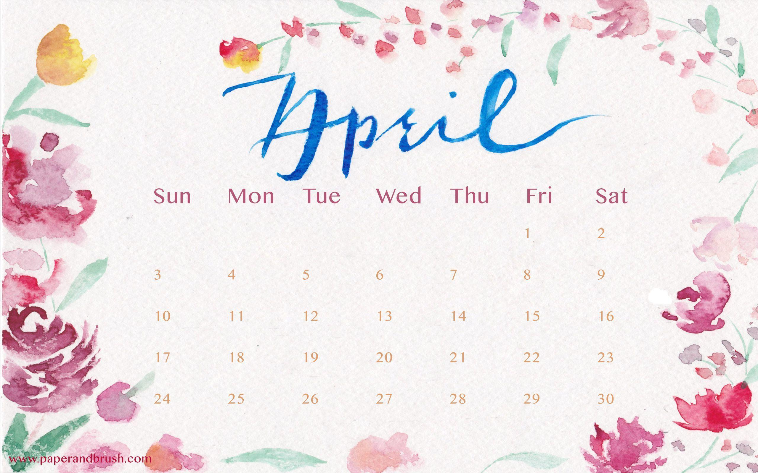 April Calendar Screensaver : Desktop wallpapers calendar april wallpaper cave