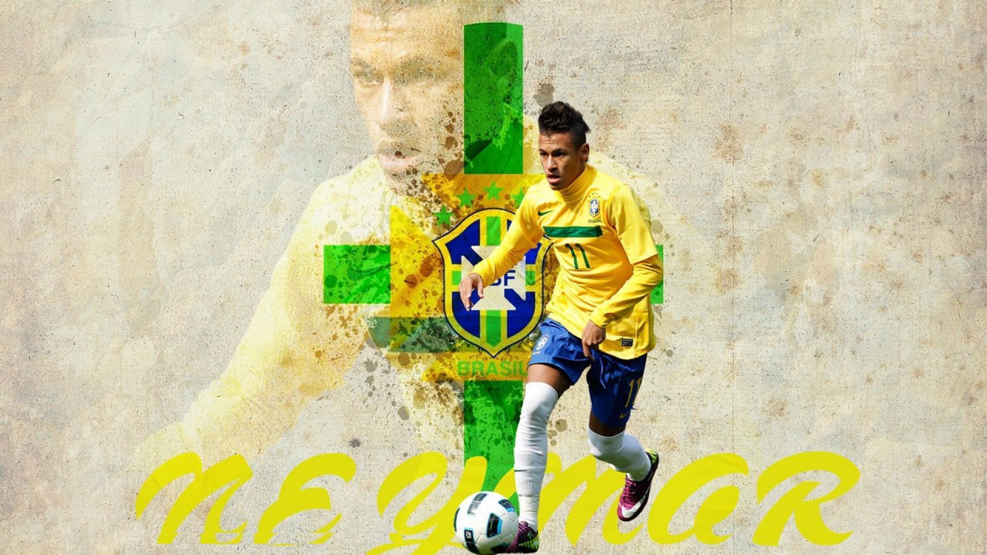 Cool Wallpapers Brazil Football: 2016 Fifa Brazil Neymar 3D Wallpapers