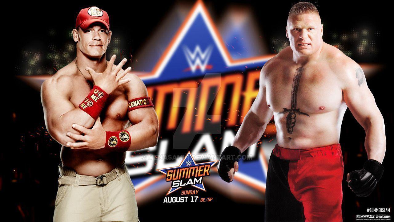 WWE Summerslam 2016 John Cena Vs Brock Lesnar Wallpapers ...