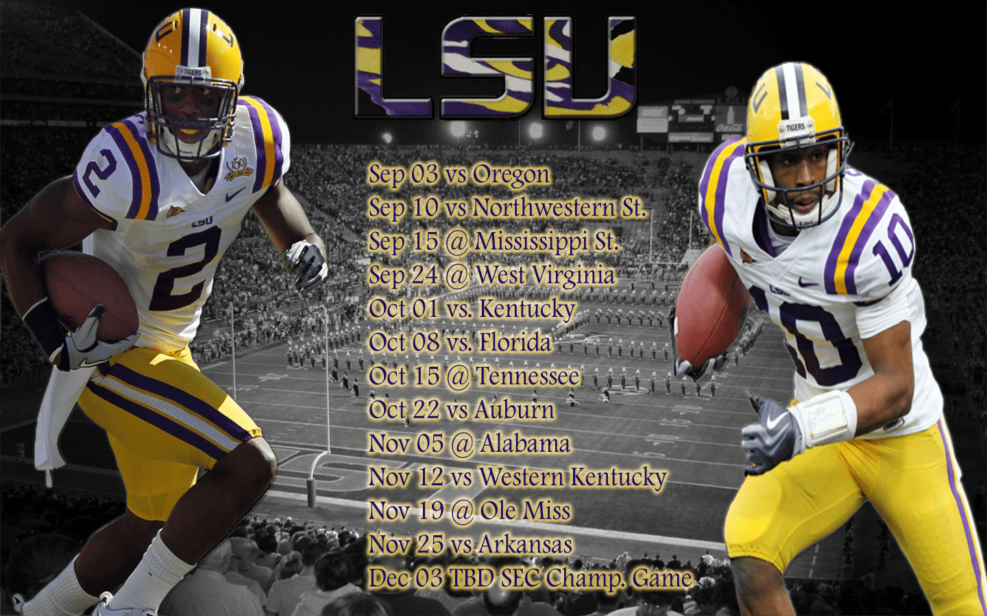 lsu football schedule 2016 wallpapers wallpaper cave