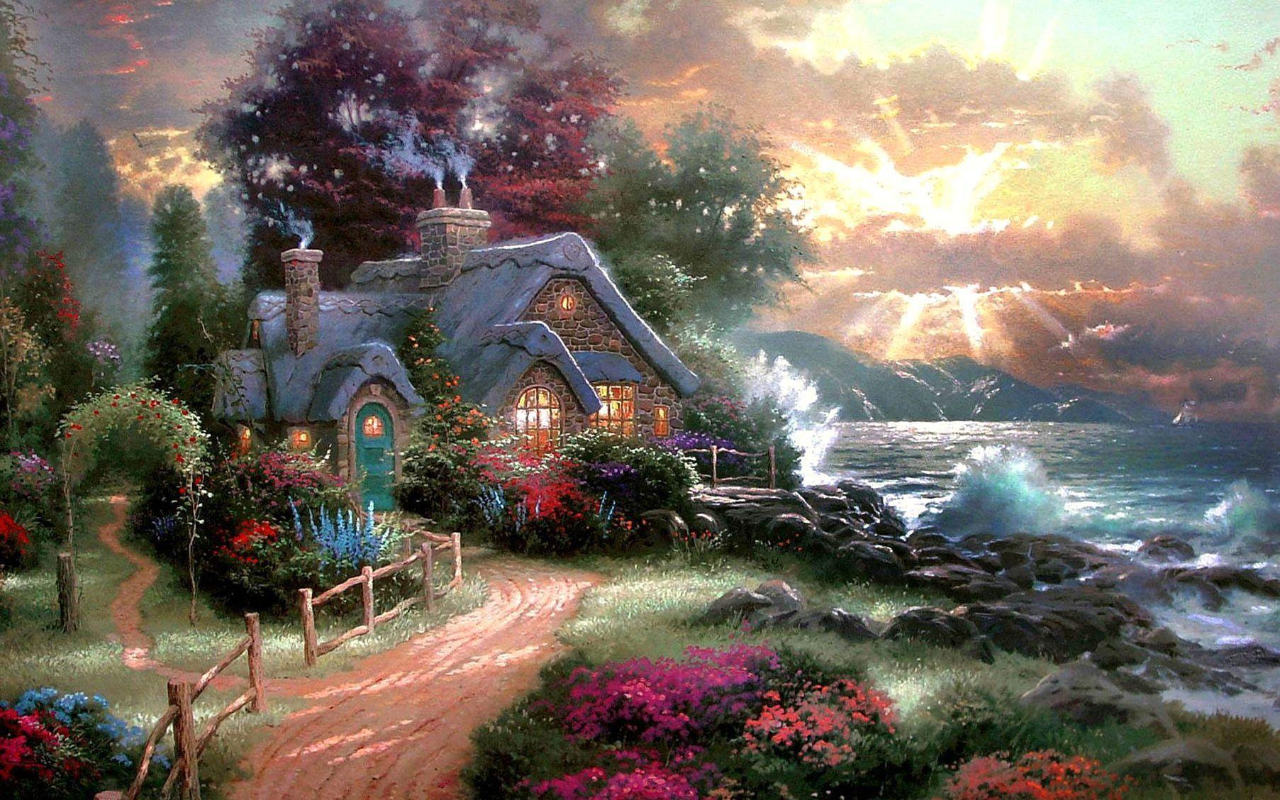 Beautiful Cottage Garden Free Desktop Wallpaper High