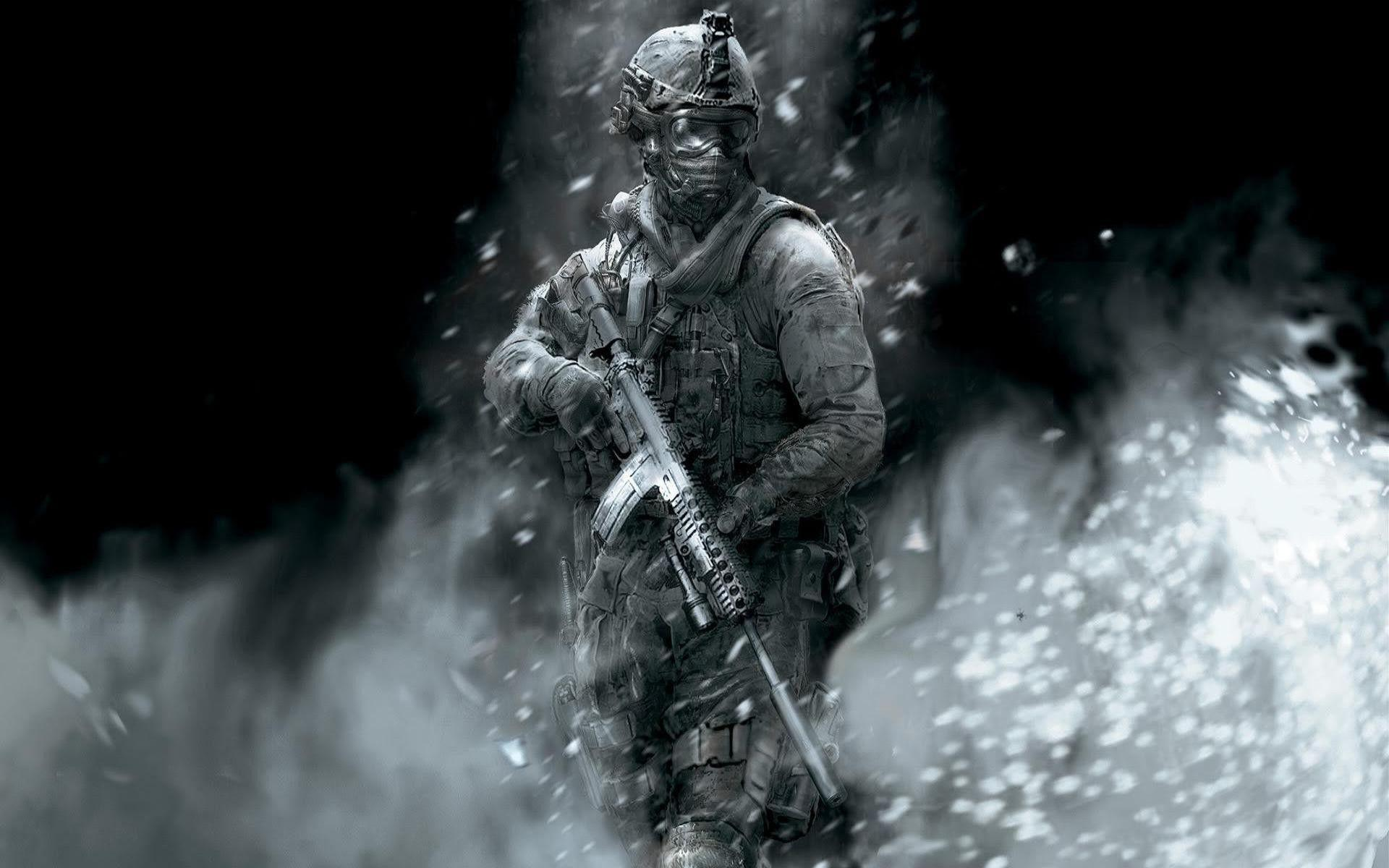 Black White Call Of Duty Ghost Wallpapers Wallpapers