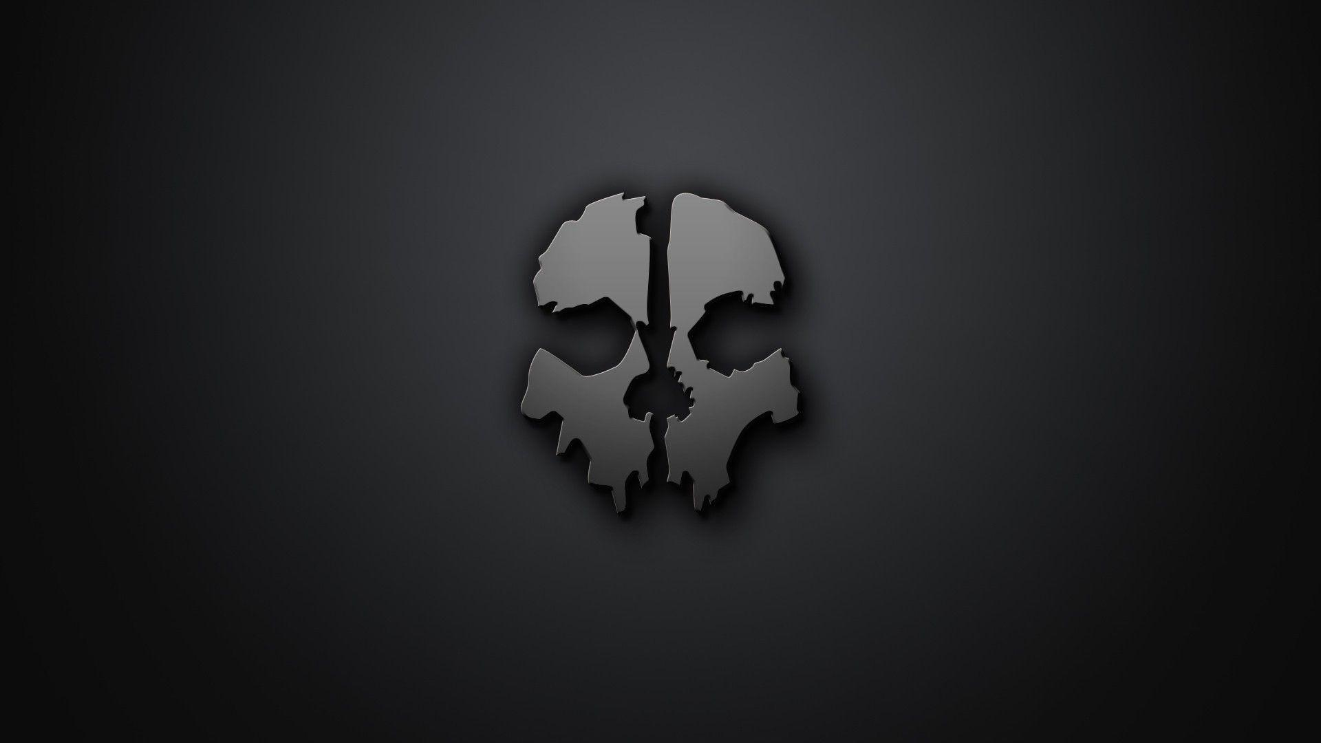 skull, Artwork, Minimalism, Gray Background, Call Of Duty, Call Of