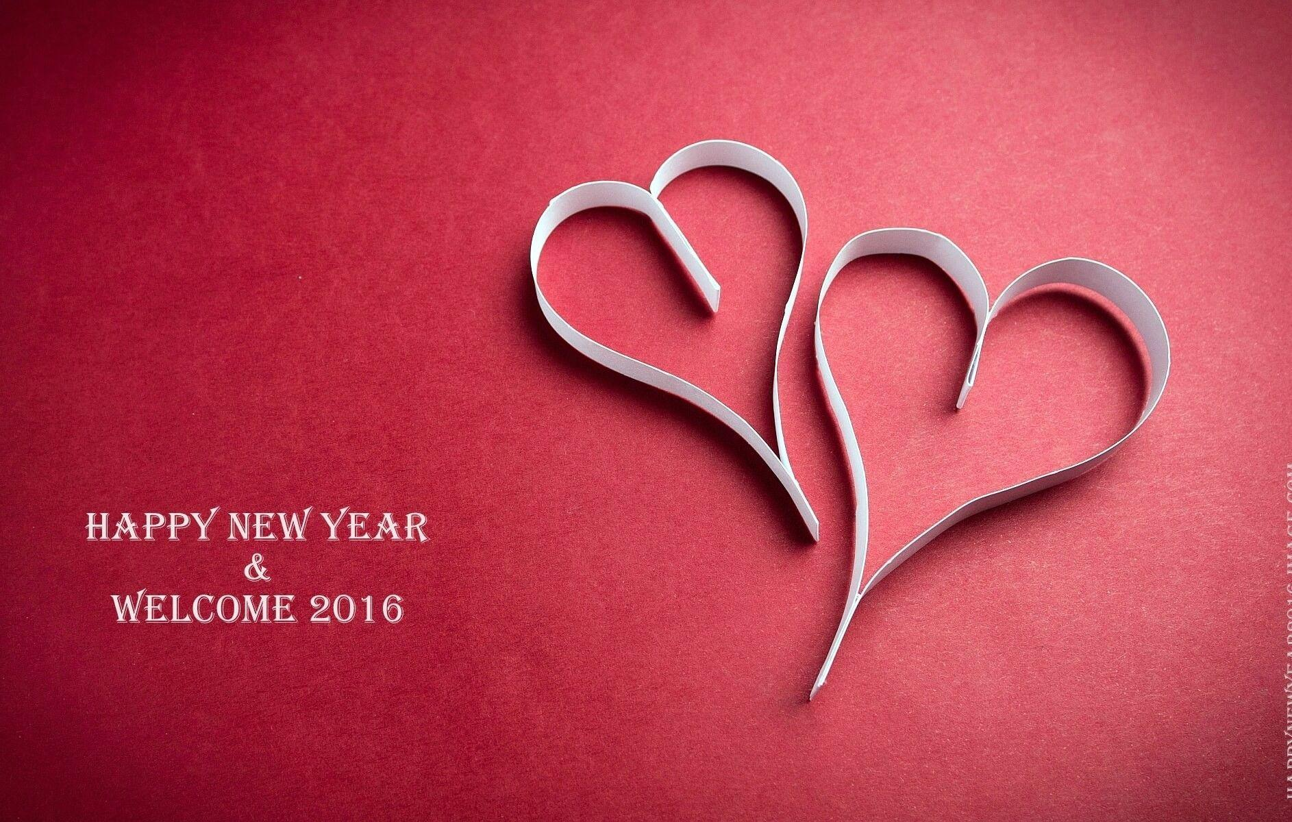 sweet happy new year love couple photos with romantic greetings