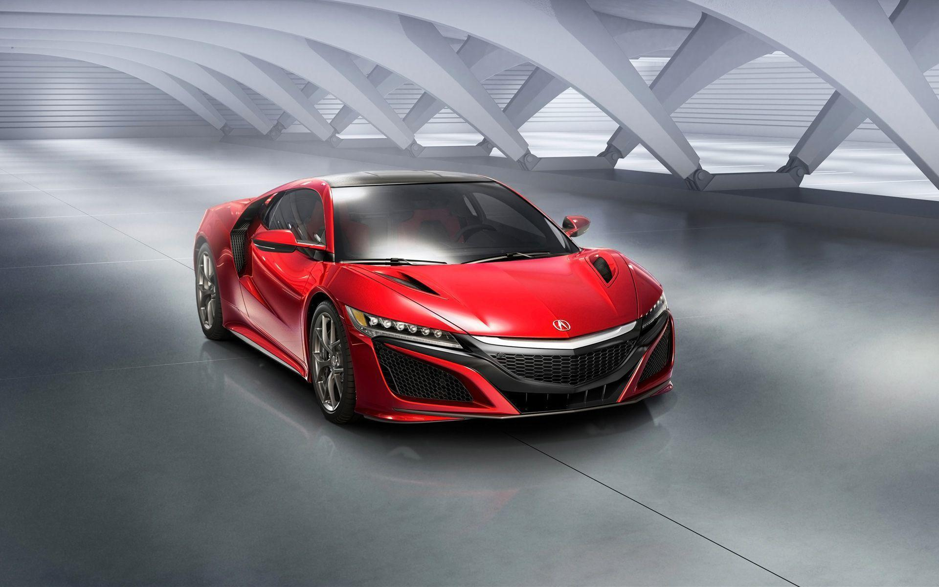 New ACURA NSX 2016 Red Car Wallpapers