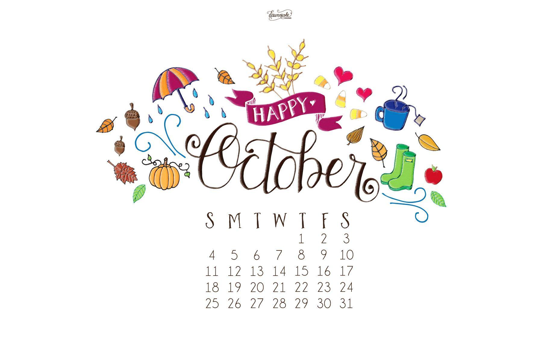 Calendar Design Wallpaper : Desktop wallpapers calendar october wallpaper cave