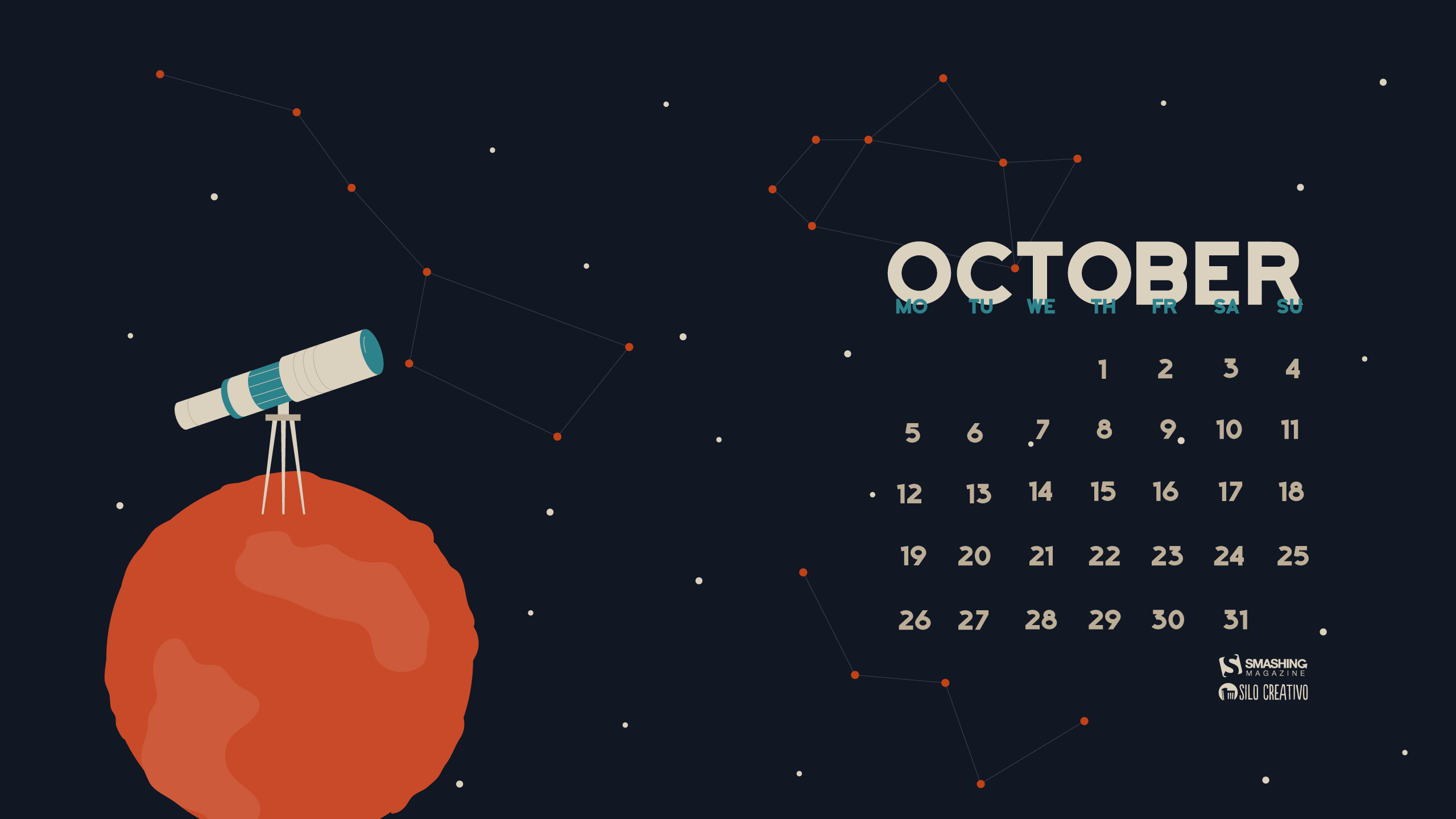 Calendar Background 2016 : Desktop wallpapers calendar october wallpaper cave