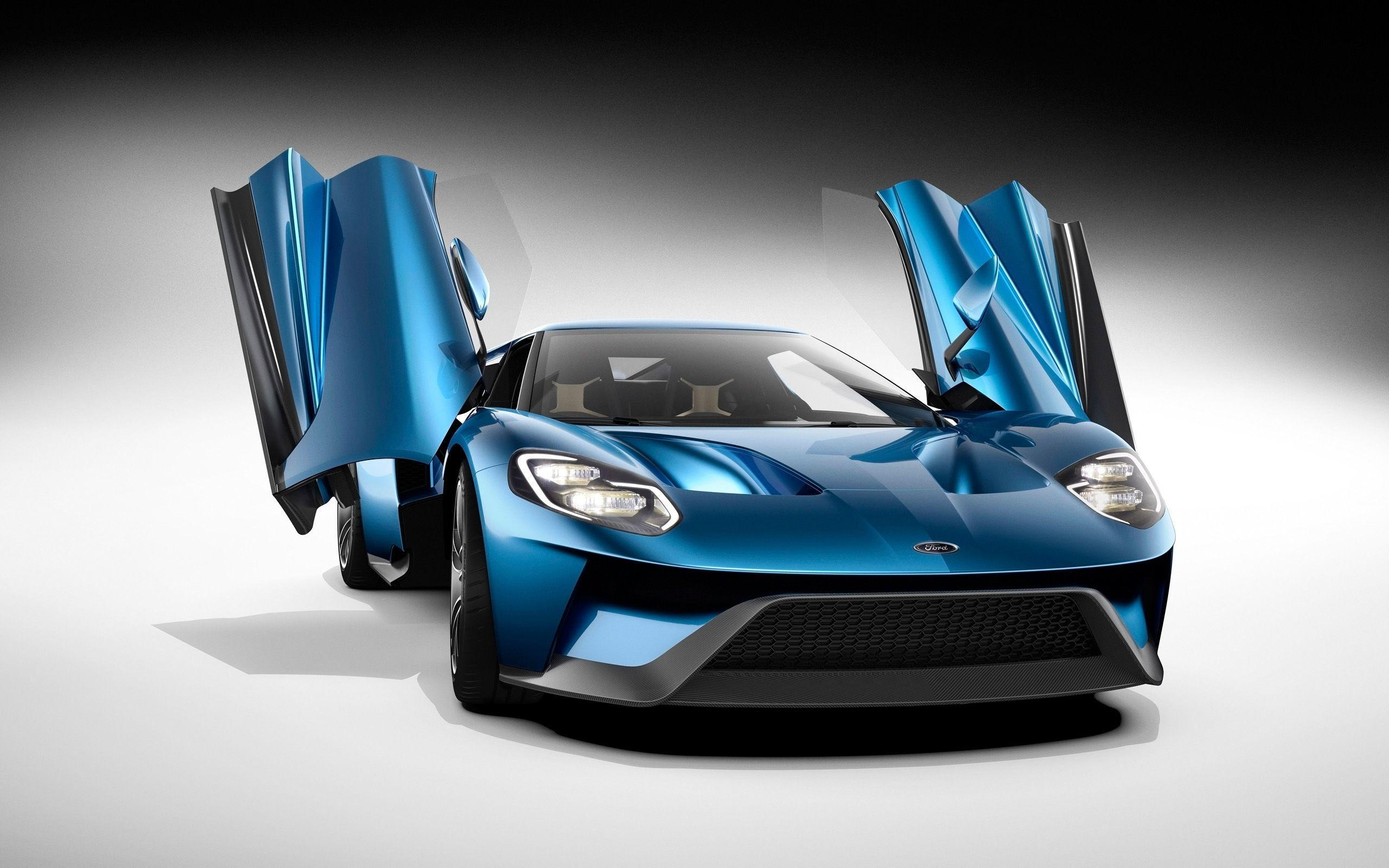 2016, Ford GT 2, Front View, Blue Car, Supercar, Cool