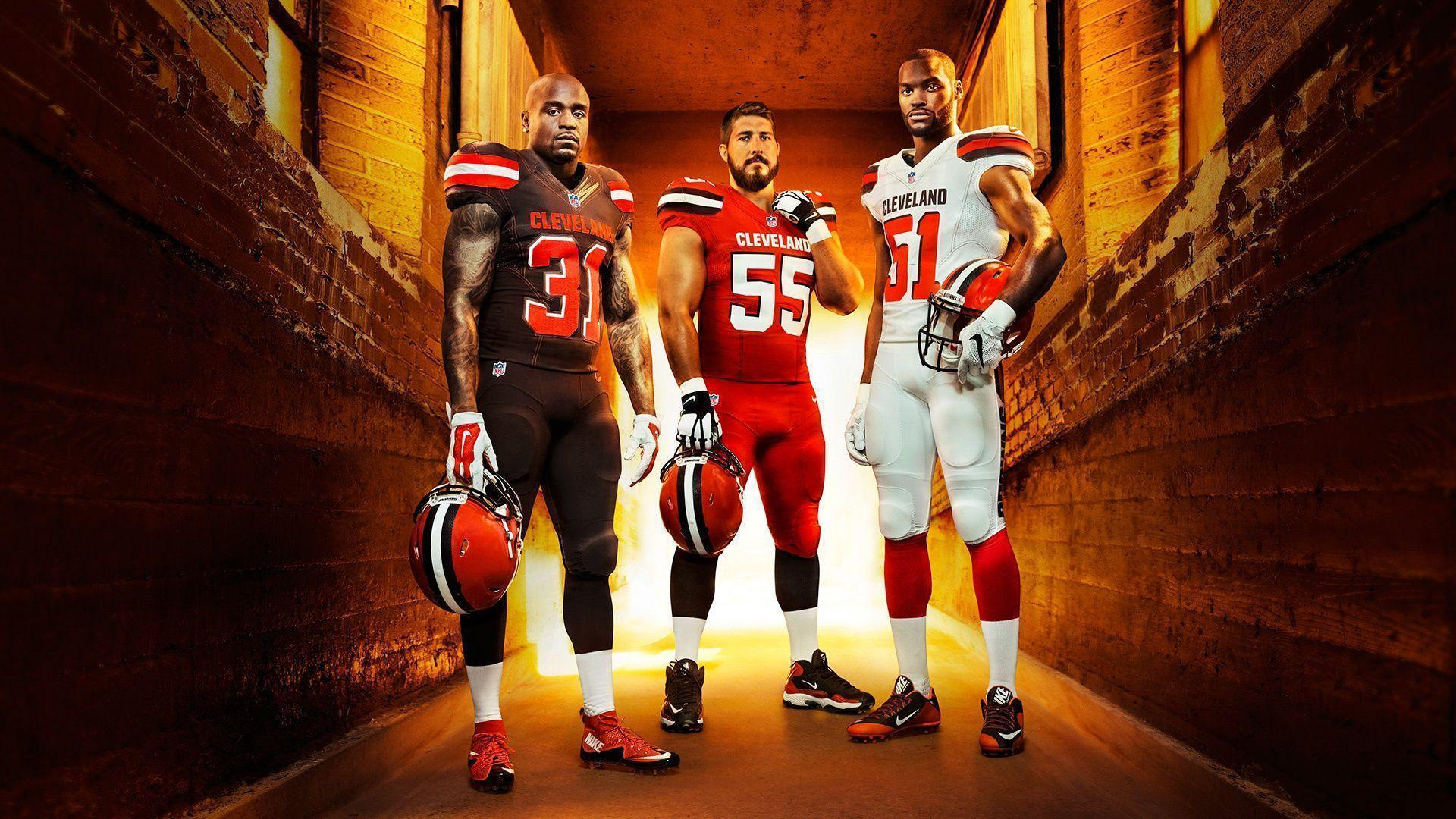 1920x1080 American Football, Team Players, Art, Cleveland Browns