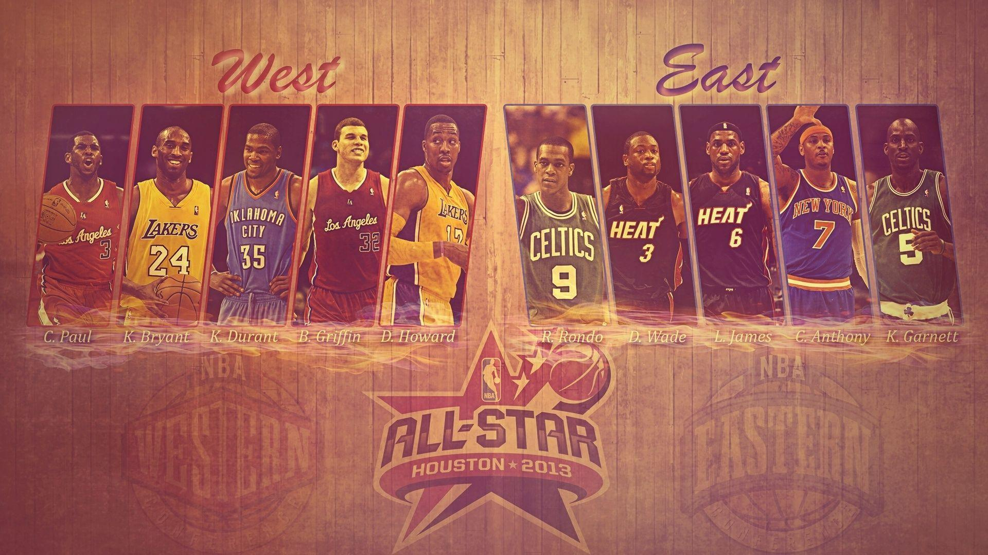 1920x1080 All Star, Kevin Durant, Nba, Basketball, West, Kobe