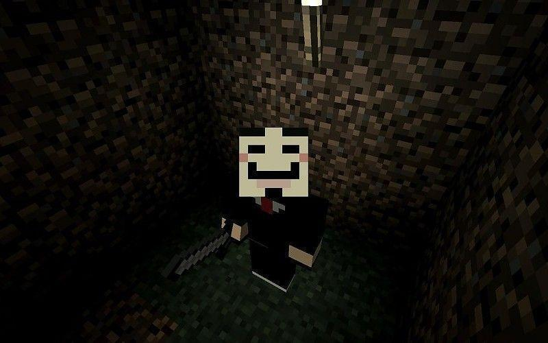 Video games anonymous minecraft v for vendetta Wallpapers free