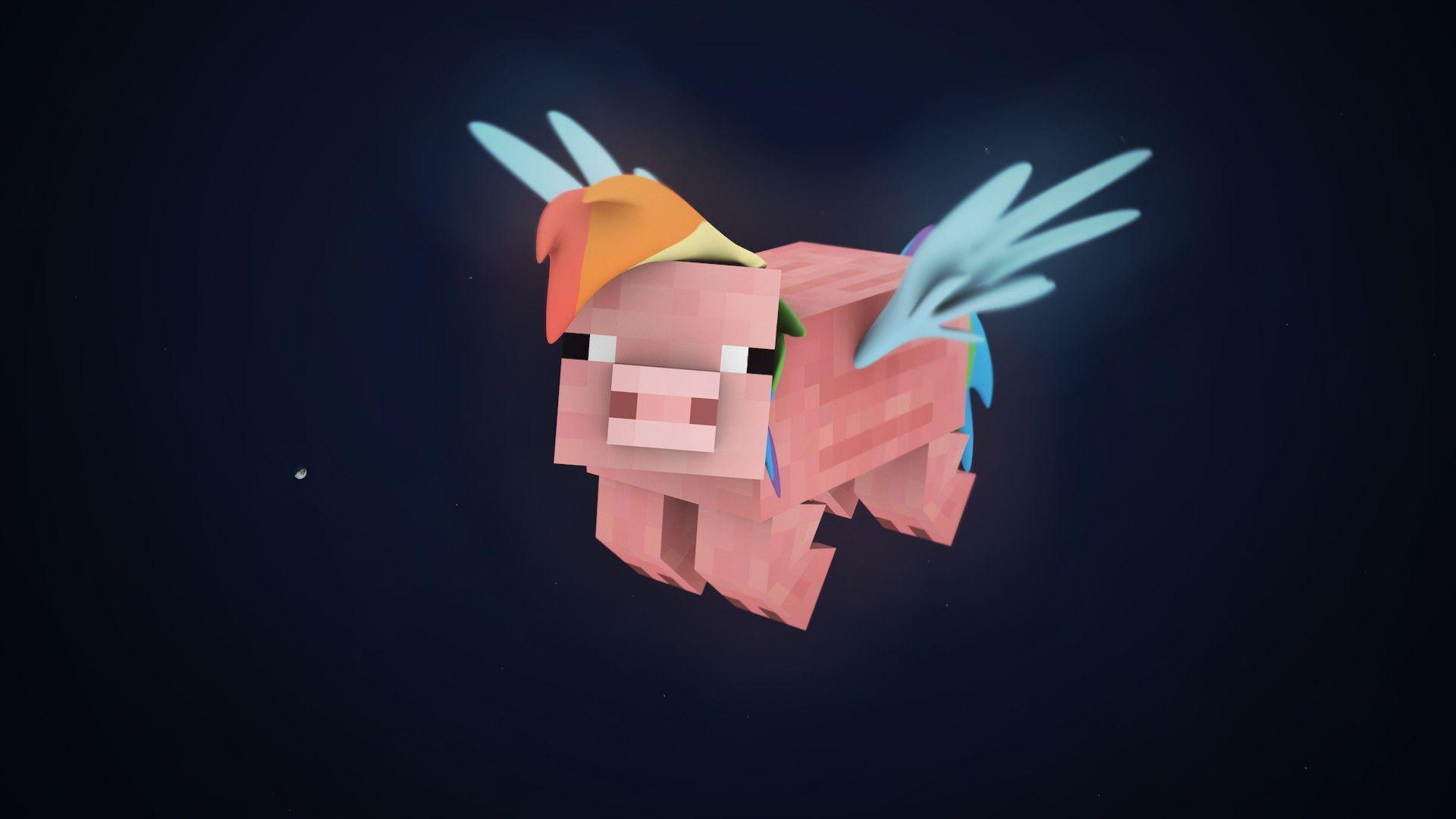 My Little Pony + Minecraft 3D Wallpapers