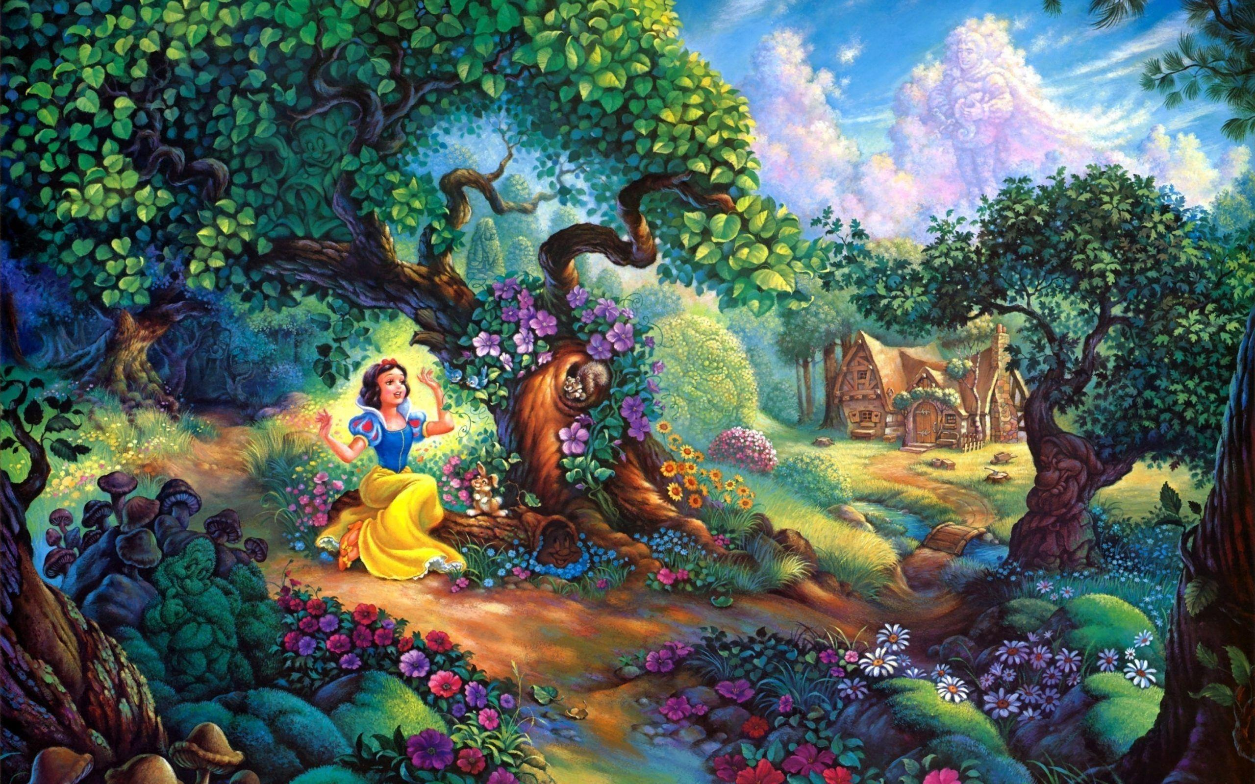 Disney Snow White Fairy Tale Wallpapers for desktop and mobile in