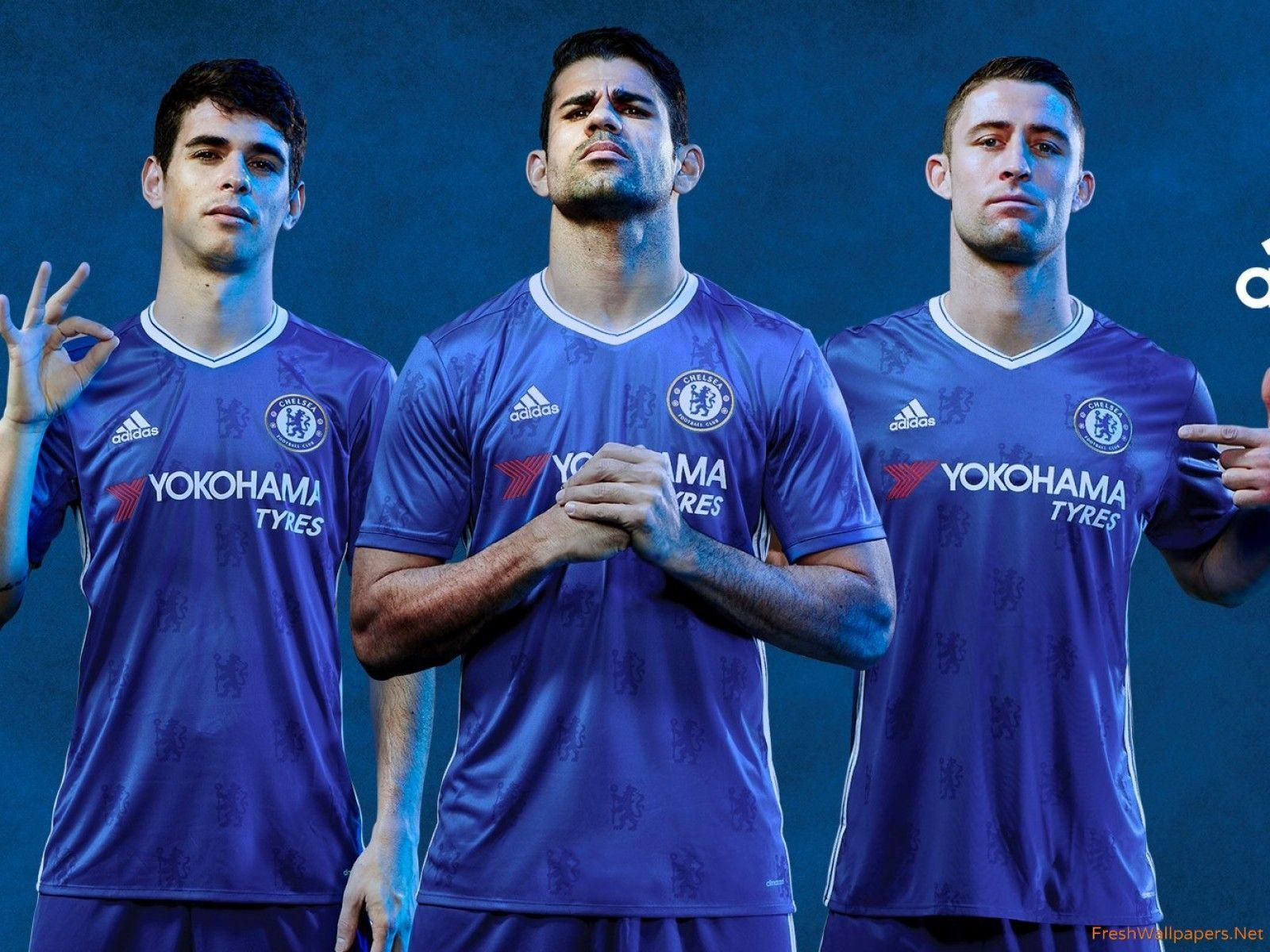 2016 2017 Adidas Home Kit Chelsea FC Wallpapers