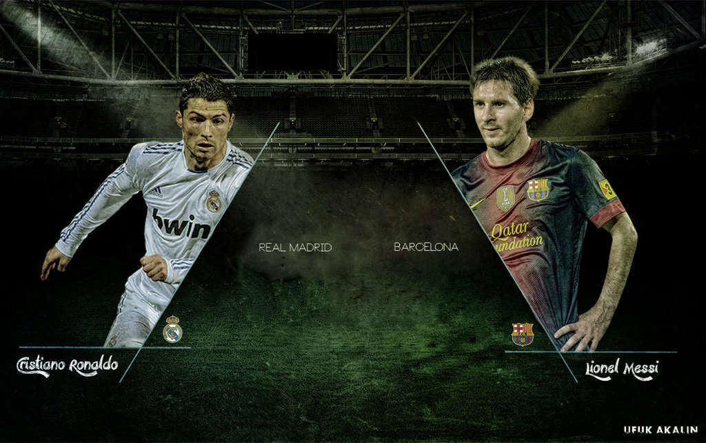 Collection Of Messi Vs Ronaldo Wallpaper On Wall Papers
