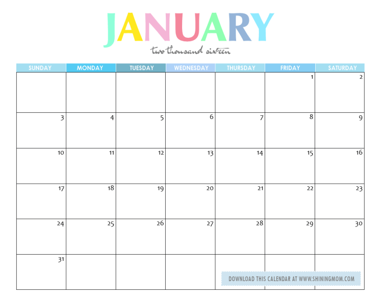 Cute Calendar January 2016 : Desktop wallpapers calendar january wallpaper cave