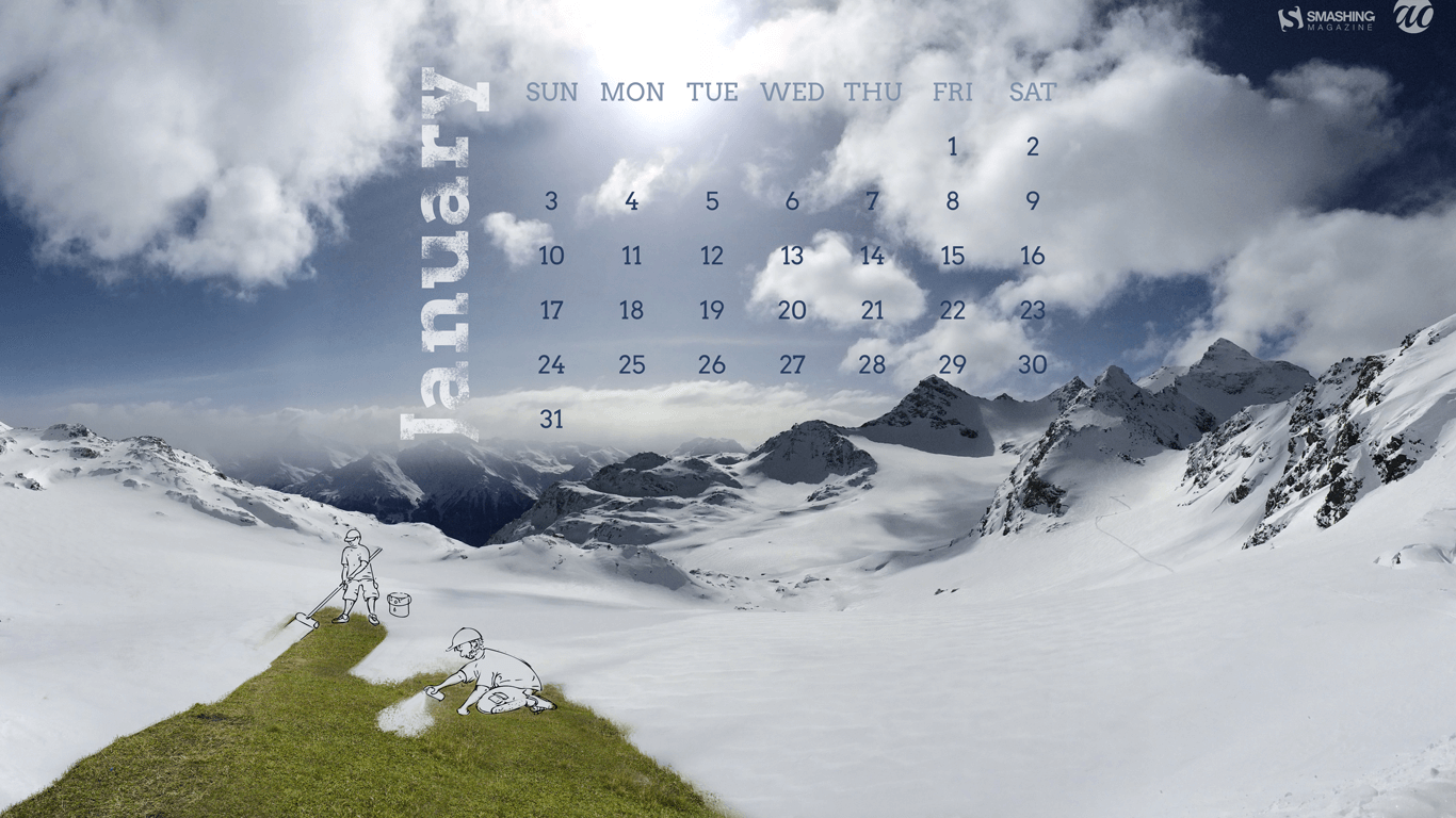Calendar Computer Wallpaper : Desktop wallpapers calendar january wallpaper cave