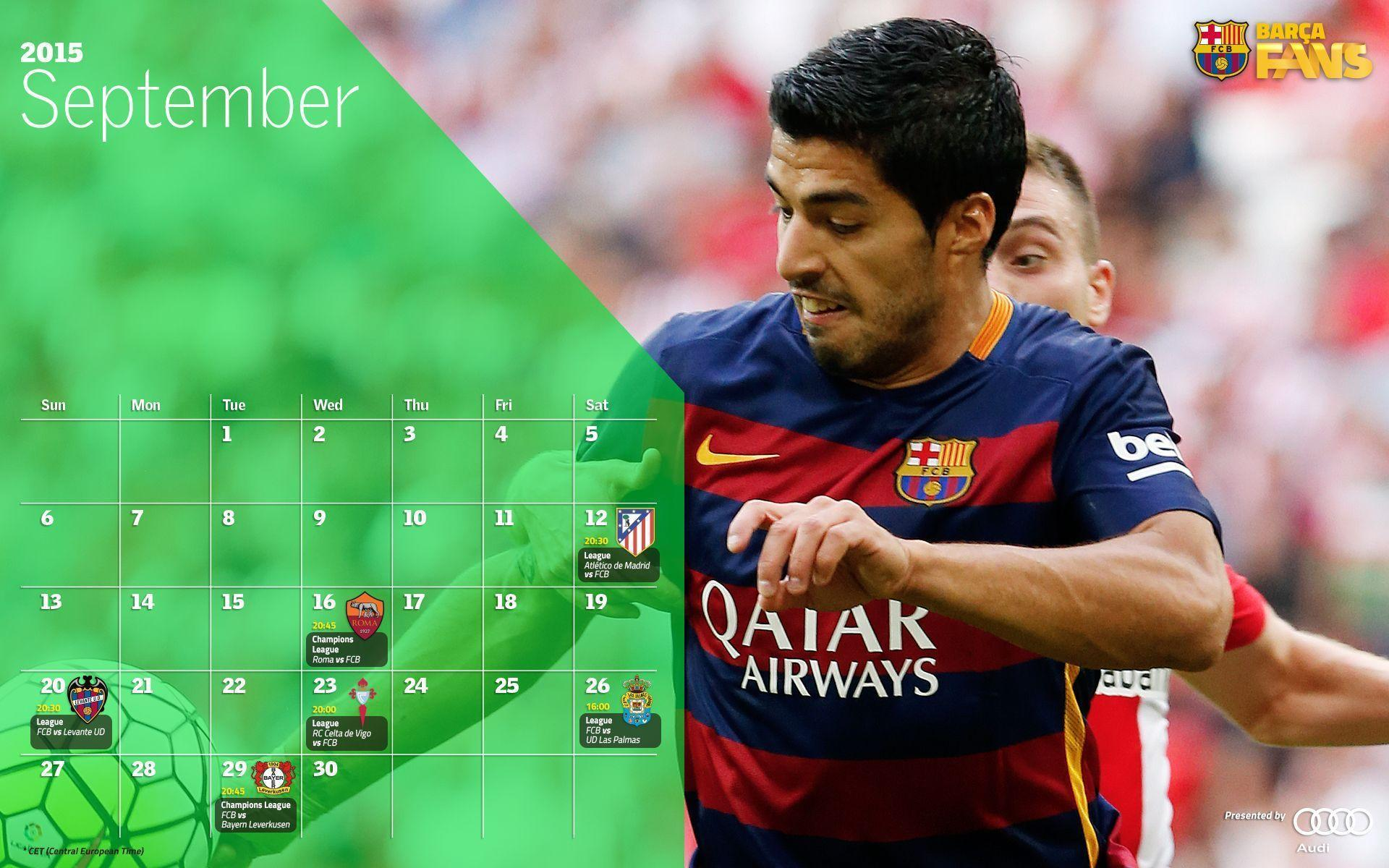 Barcelona Calendar Wallpaper : Desktop wallpapers calendar september wallpaper cave