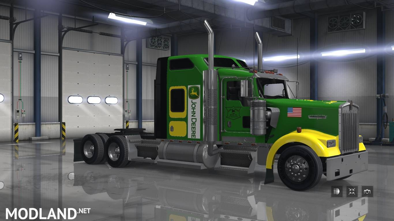 John Deere skin for SCS Kenworth W900 mod for American Truck