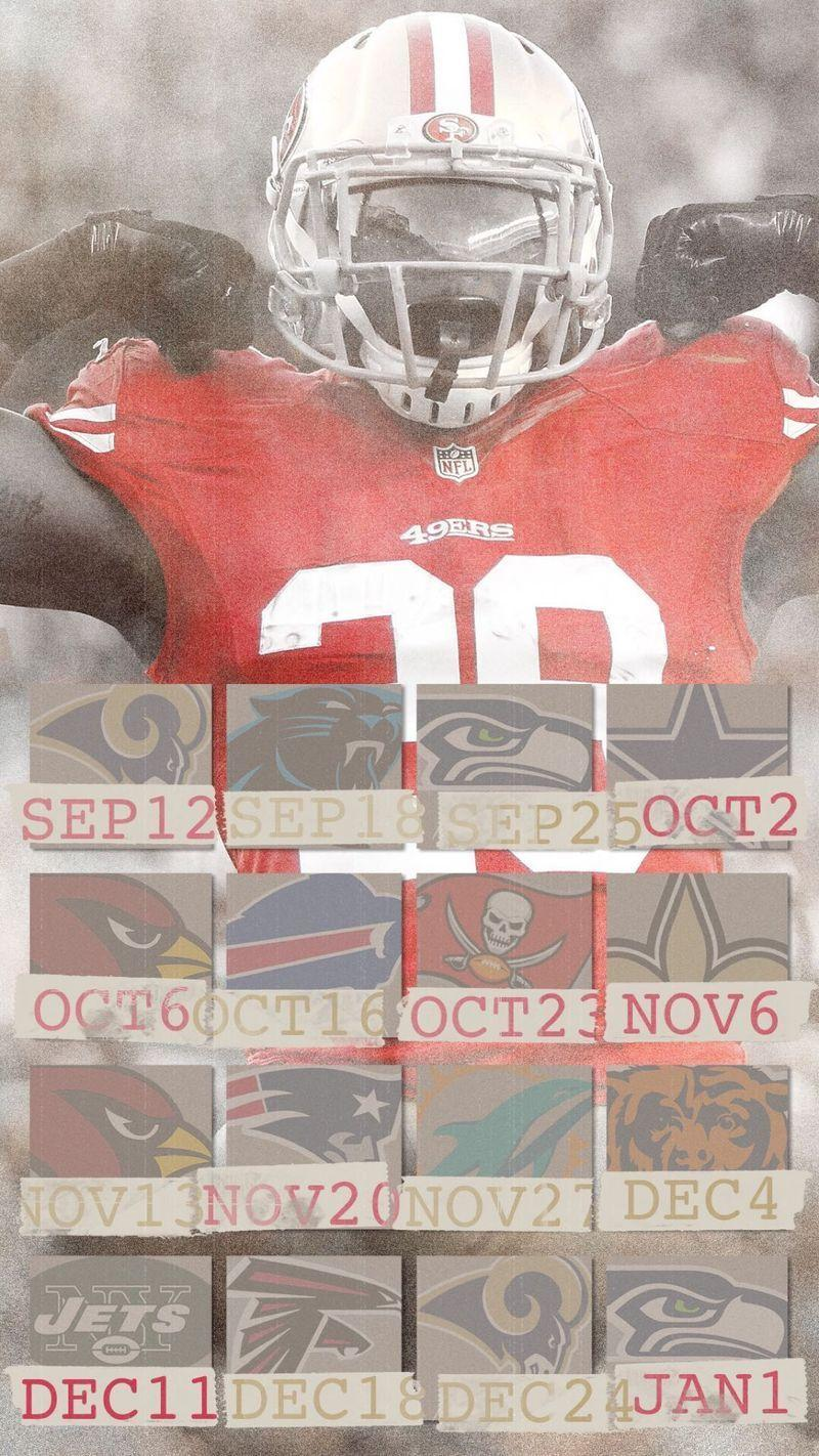 49ers schedule wall paper (mobile, desktop) - Niners Nation