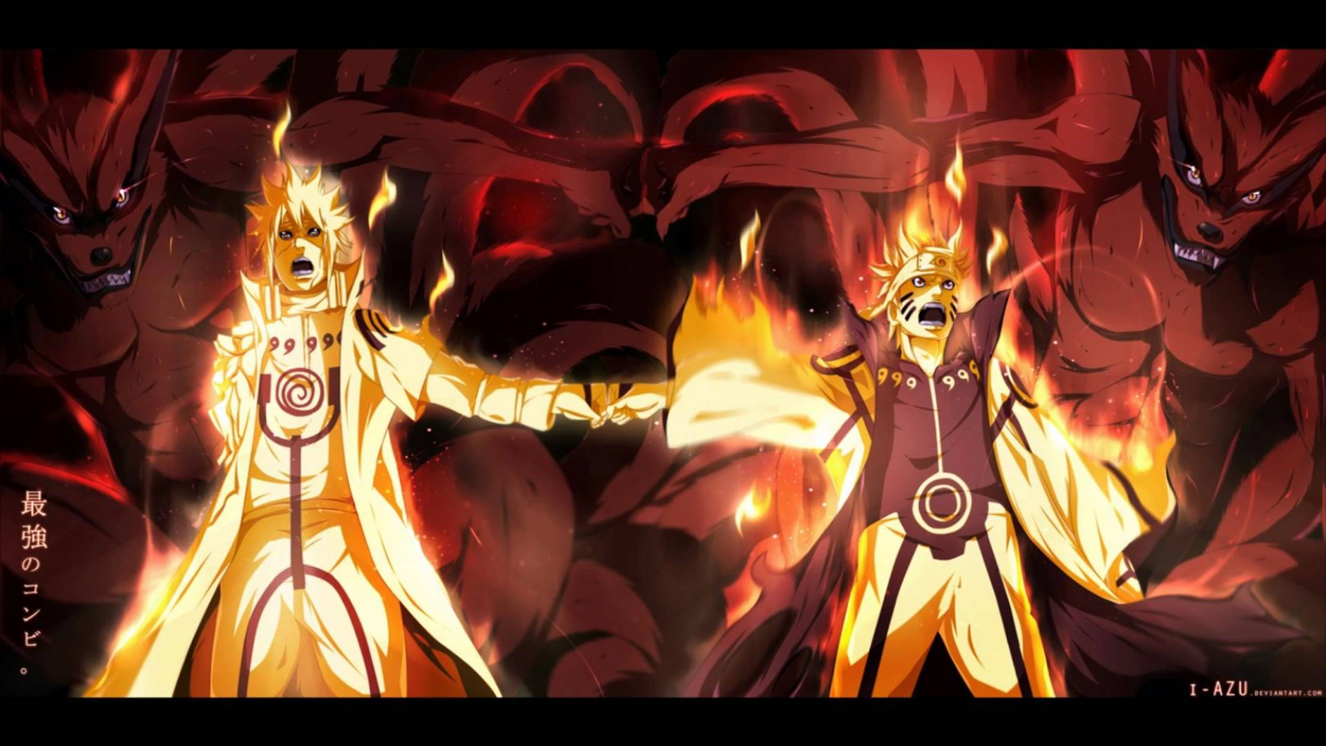 Naturo And 4th Hokage Son Father Hd Wallpaper Back Wallpapers