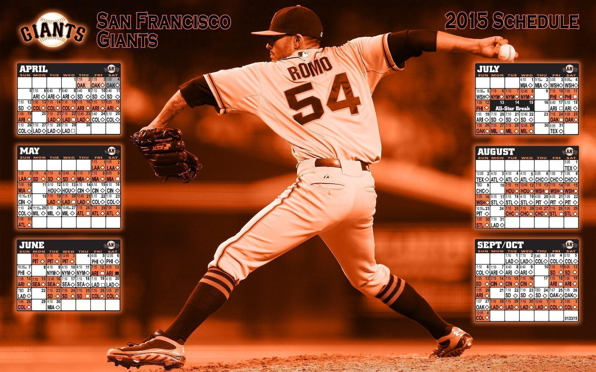 sf giants 2017 schedule wallpapers - wallpaper cave
