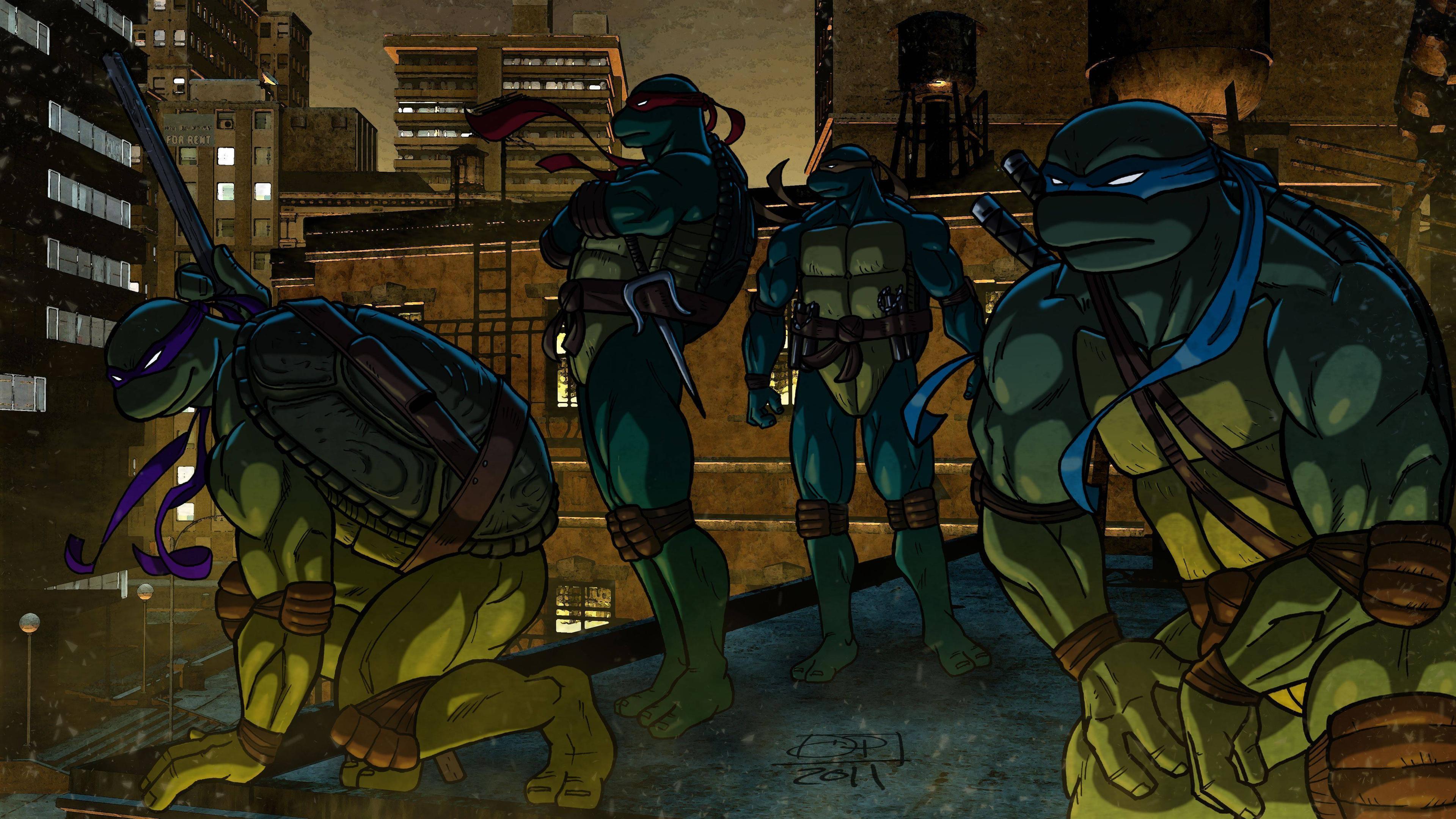 2D Teenage Mutant Ninja Turtles Wallpaper #30554 Wallpaper .