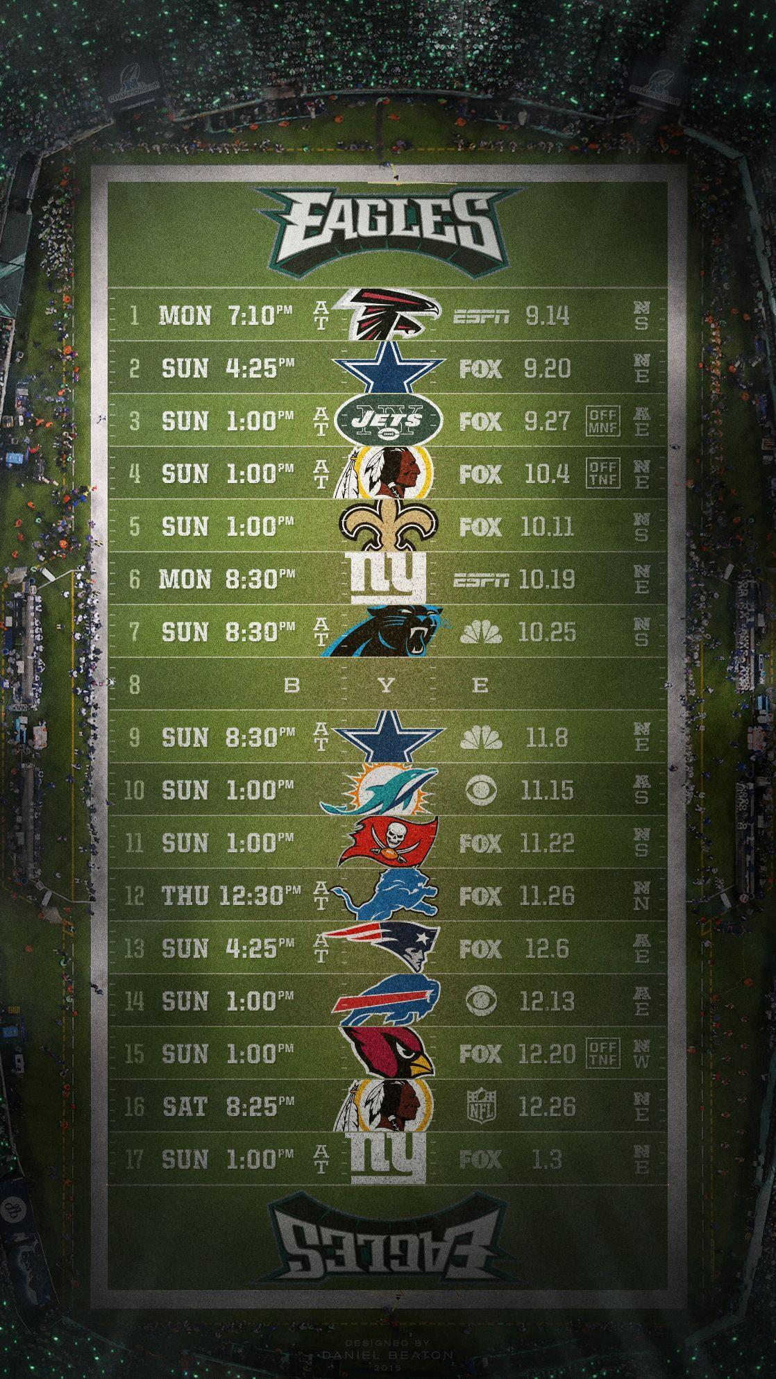 It is a graphic of Unforgettable Eagles Printable Schedule