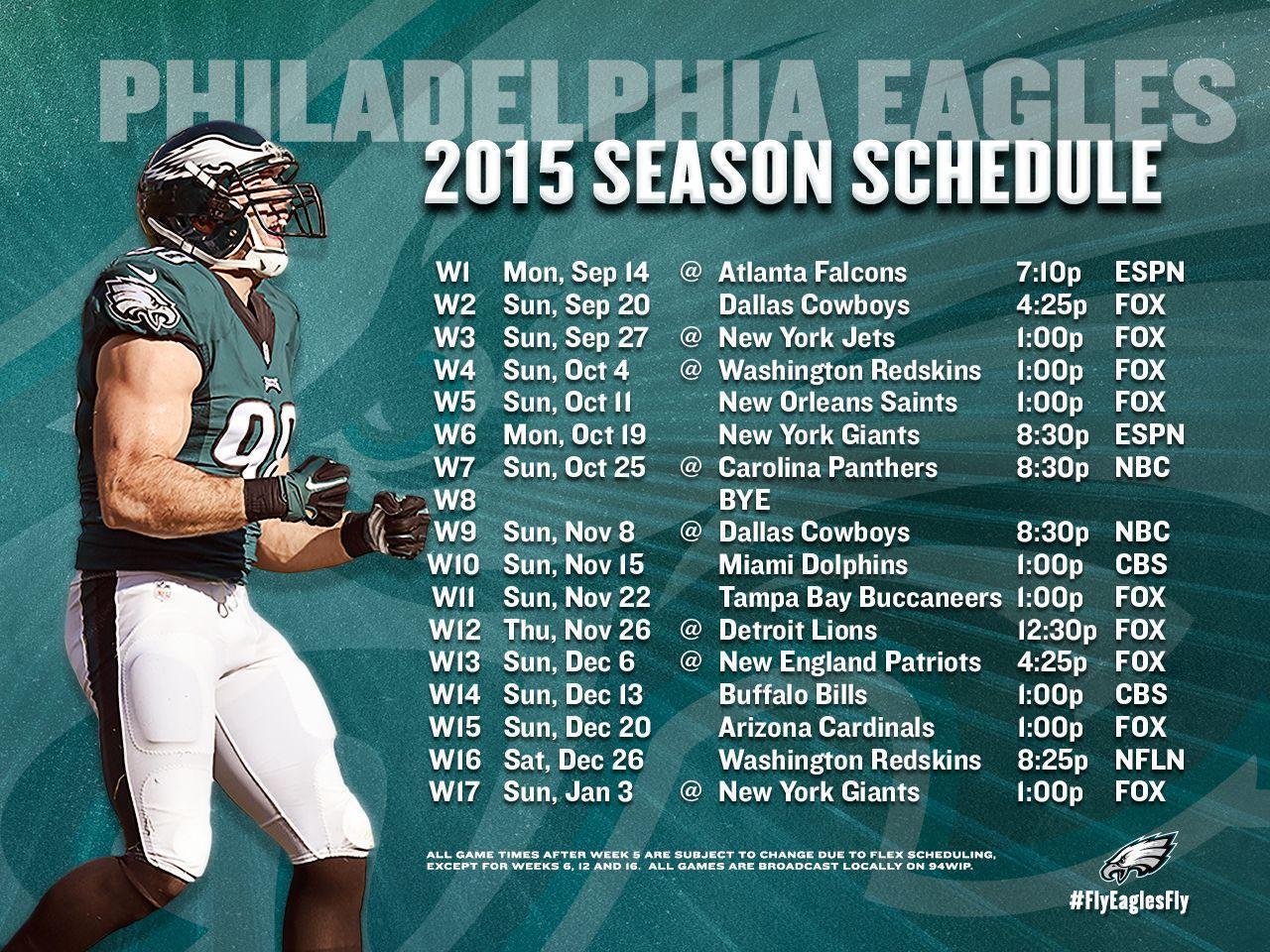 Philadelphia Eagles 2017 Schedule Wallpapers - Wallpaper Cave