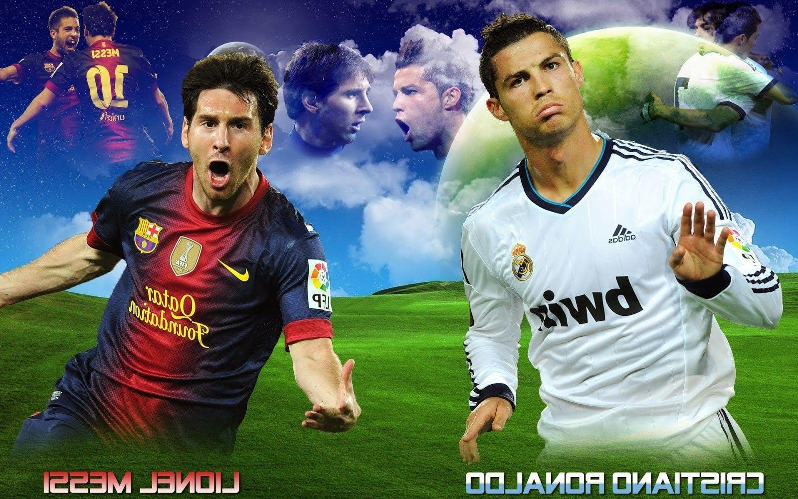 cristiano ronaldo vs lionel messi 2017 wallpapers