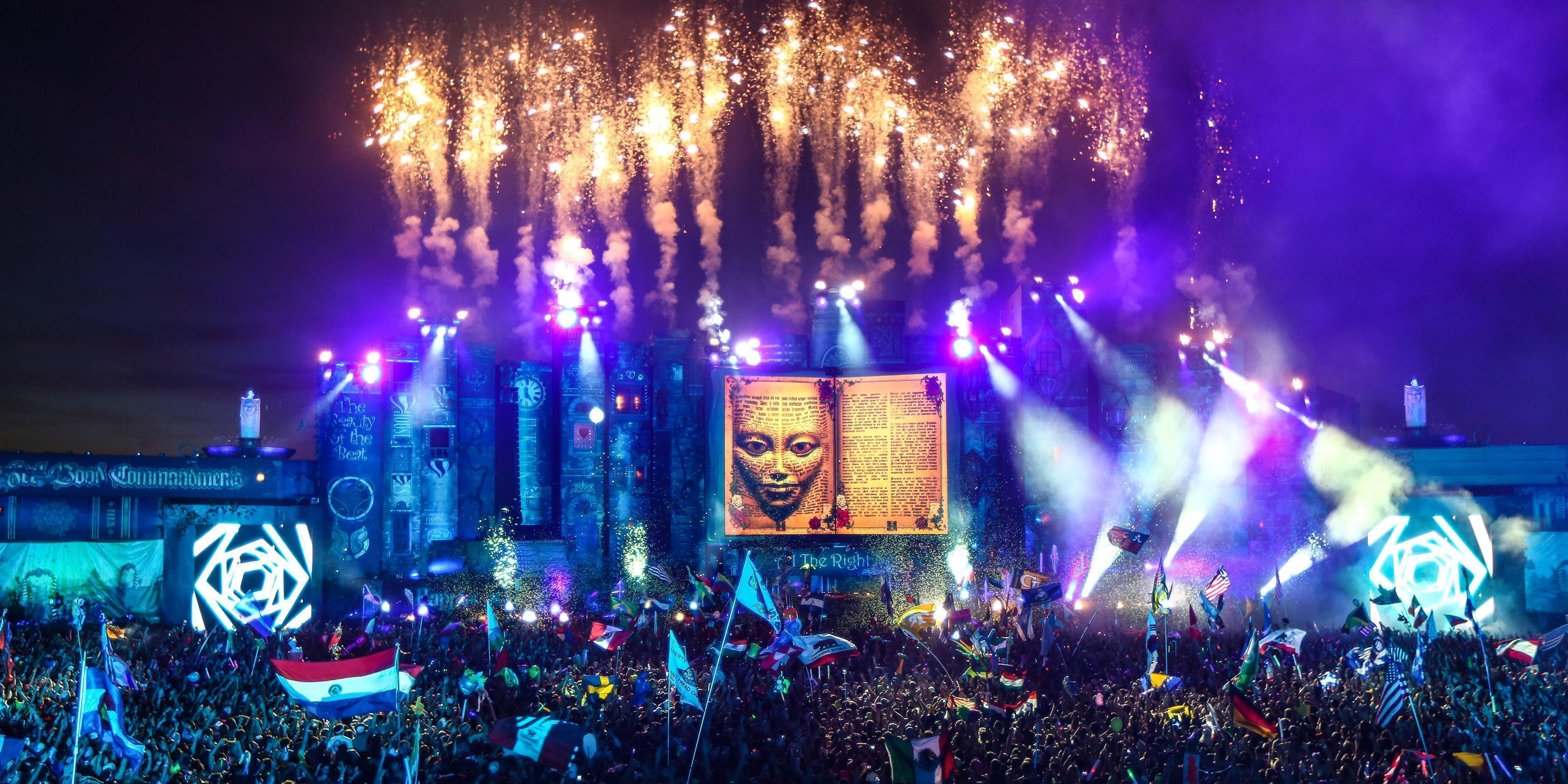 Tomorrowland 2017 Laser Show HD Wallpapers - Wallpaper Cave