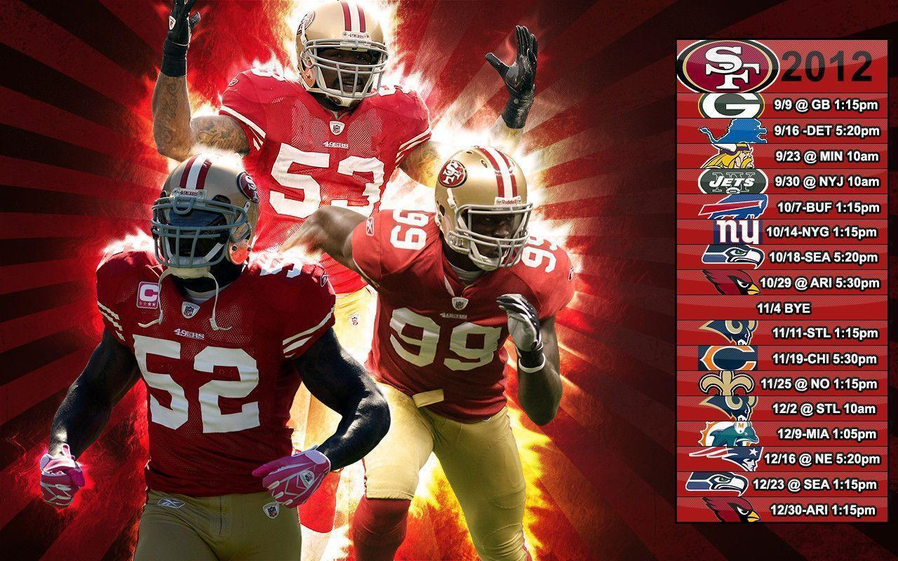 San francisco 49ers wallpapers 2017 wallpaper cave - 2015 49ers schedule wallpaper ...