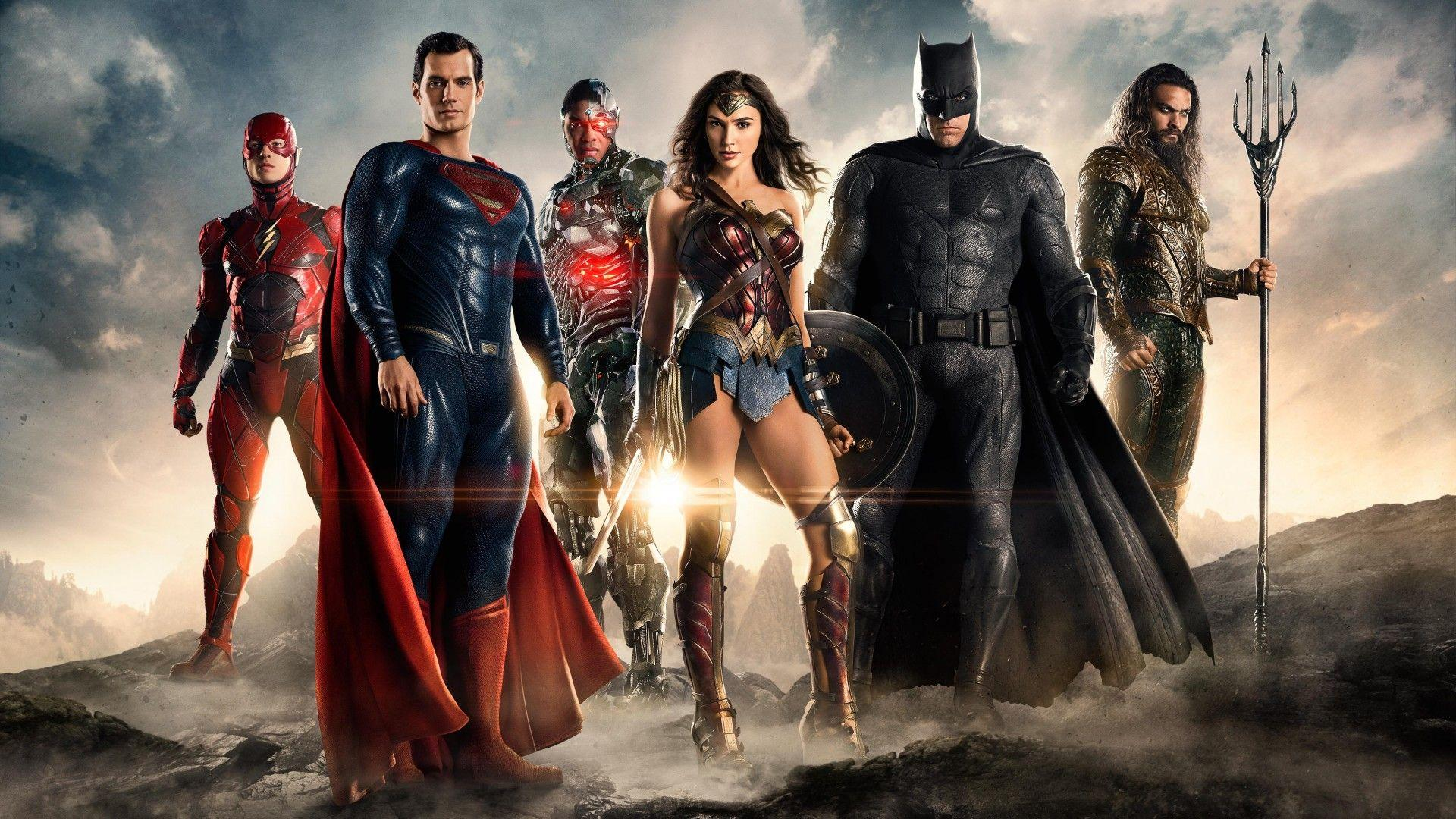 Wallpapers Justice League, 2017 Movies, Flash, Superman, Wonder
