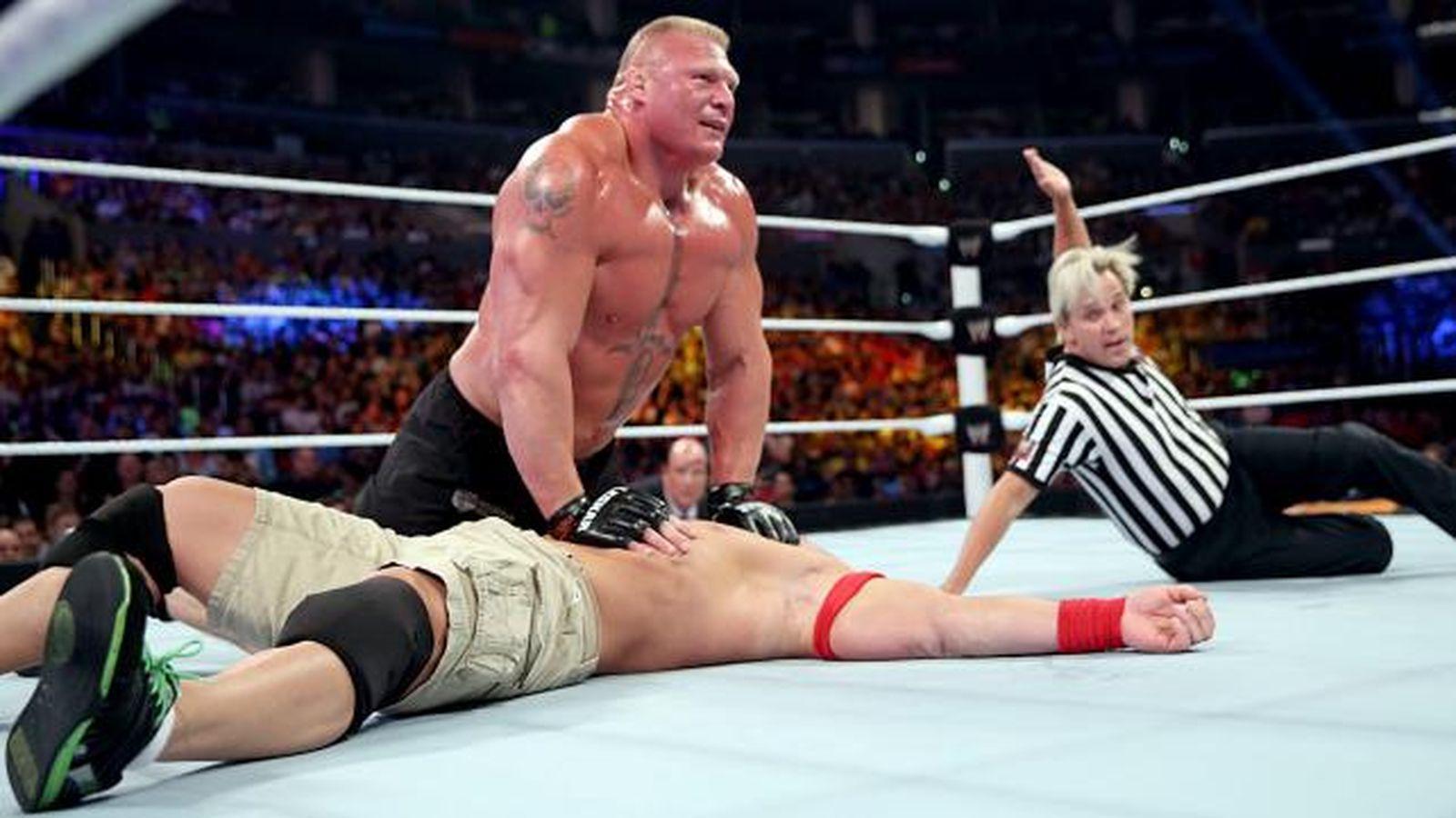 WWE Summerslam 2017 John Cena Vs Brock Lesnar Wallpapers ...