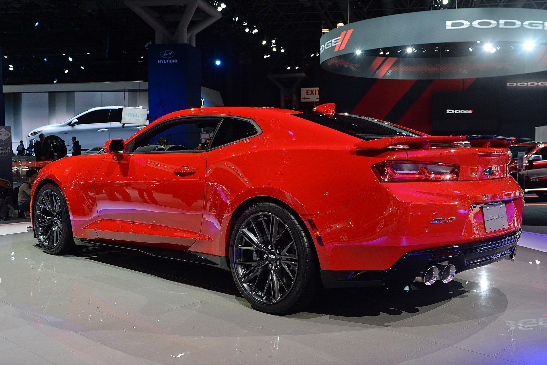 New York auto shows 2016 cars Chevrolet Camaro ZL1 coupe wallpapers