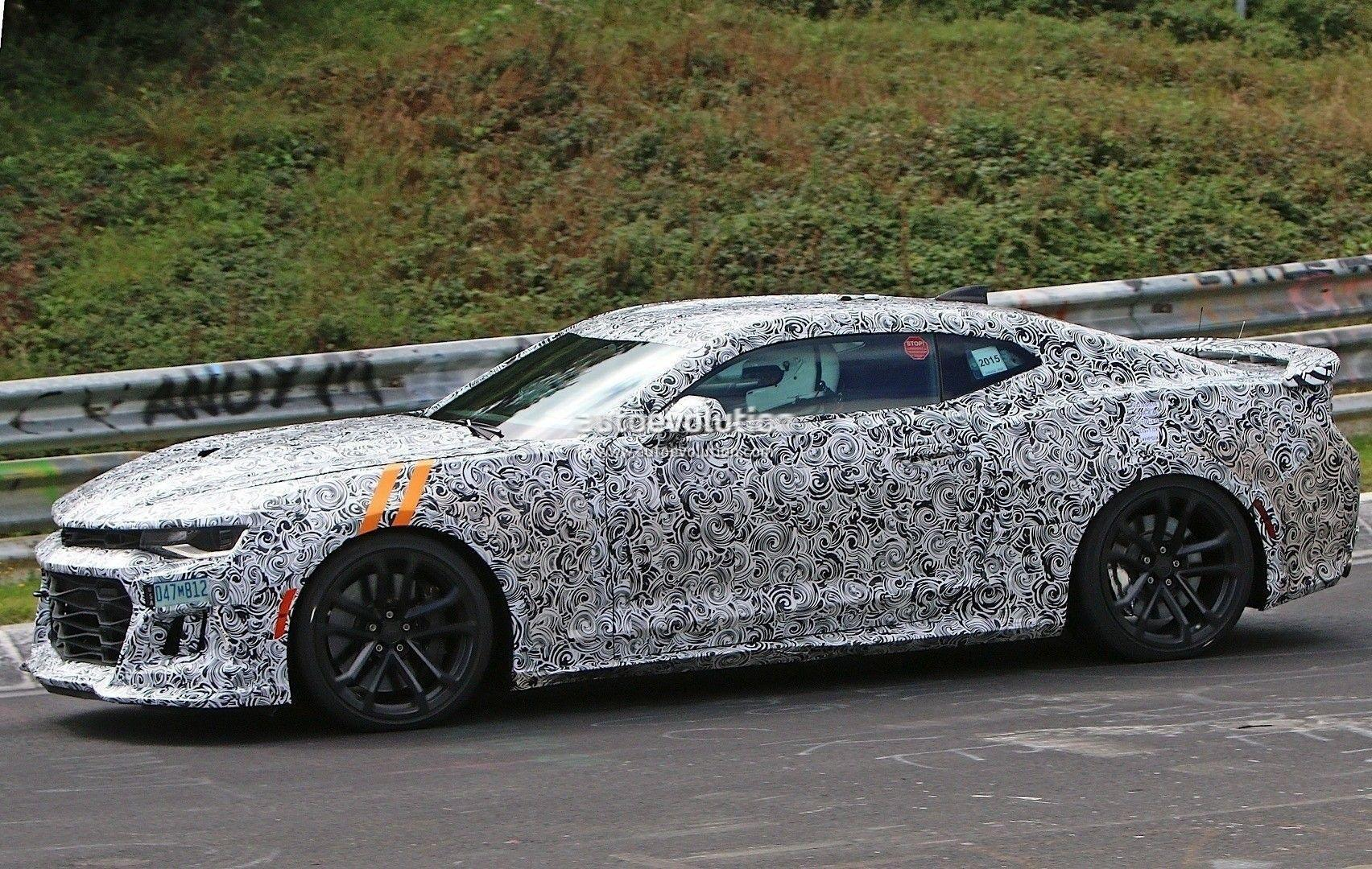 2017 Chevrolet Camaro ZL1 Shows Up on Nurburgring, Spied Prototype