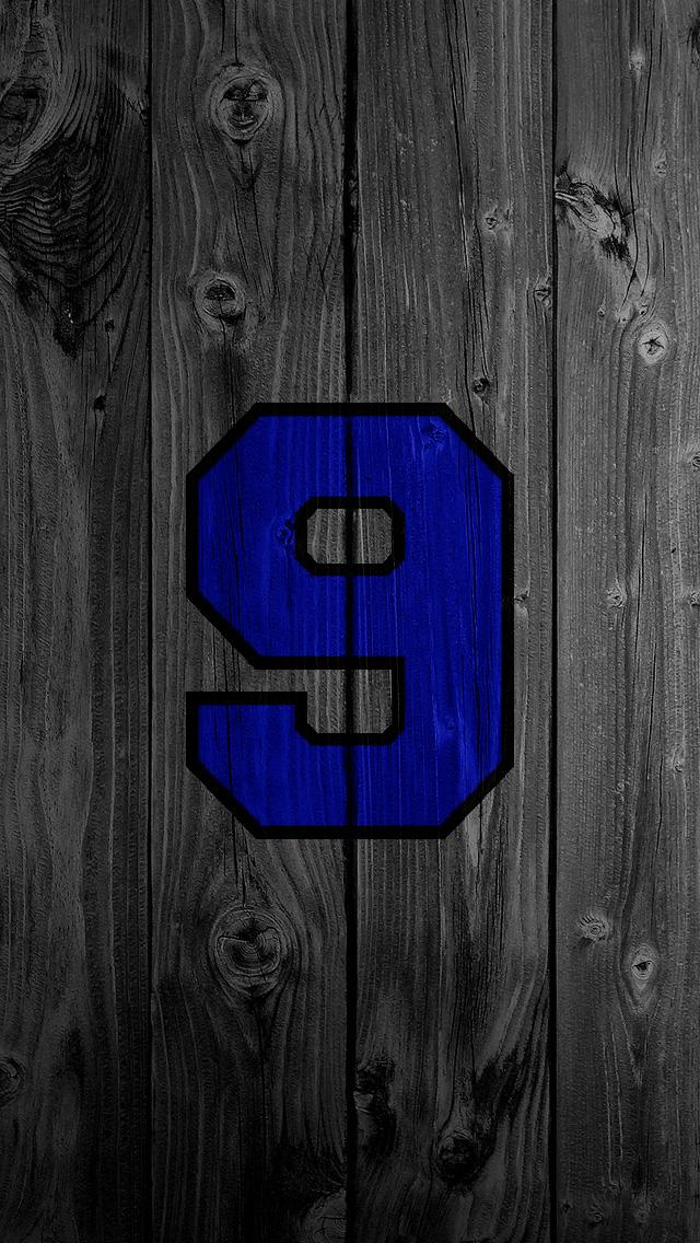 Blue number 9 black wood 2 iPhone 5 Wallpapers