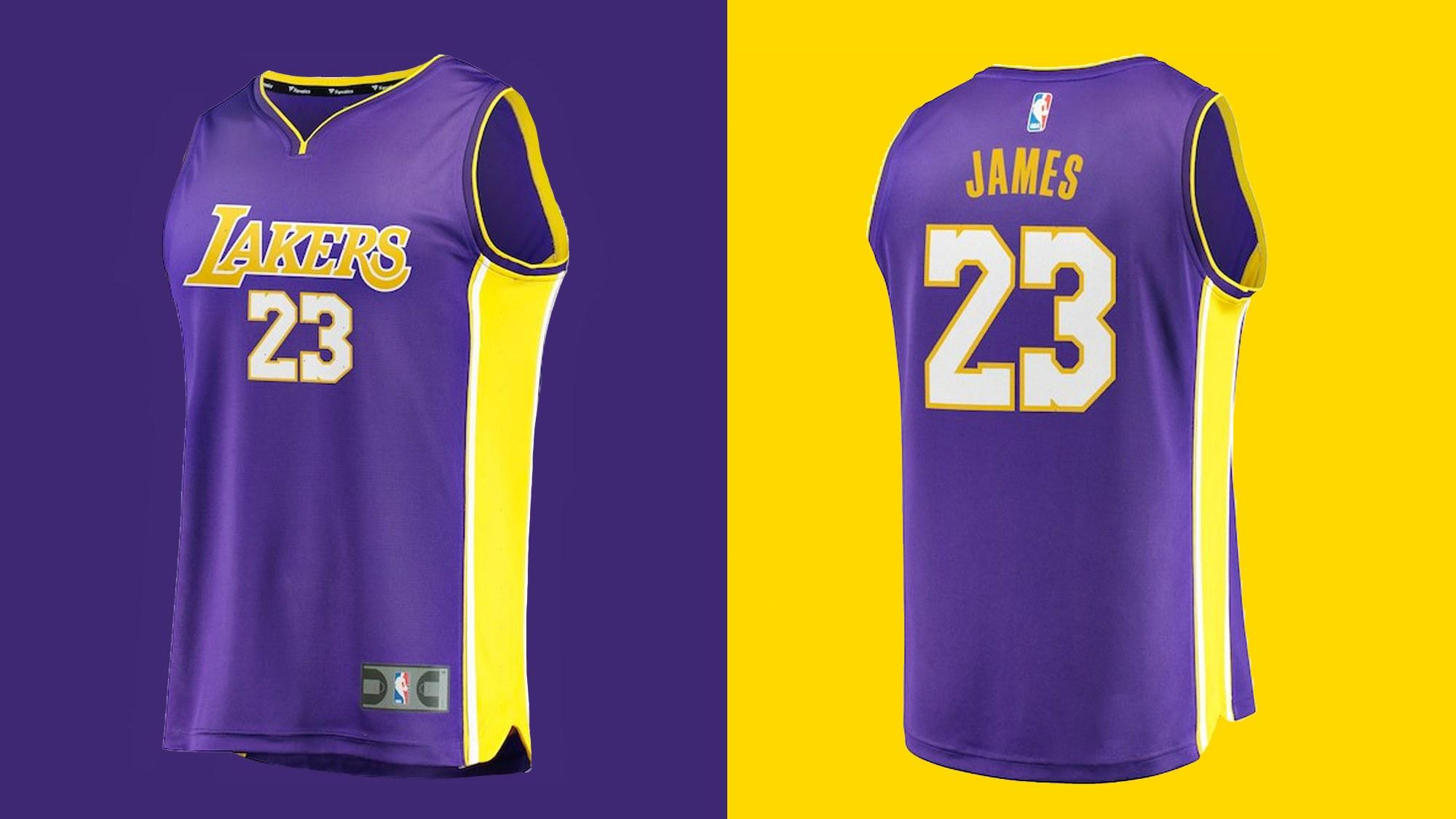LeBron James jersey Los Angeles Lakers