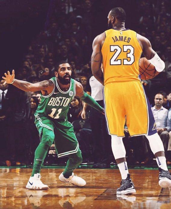 Lebron LA and Irving Boston