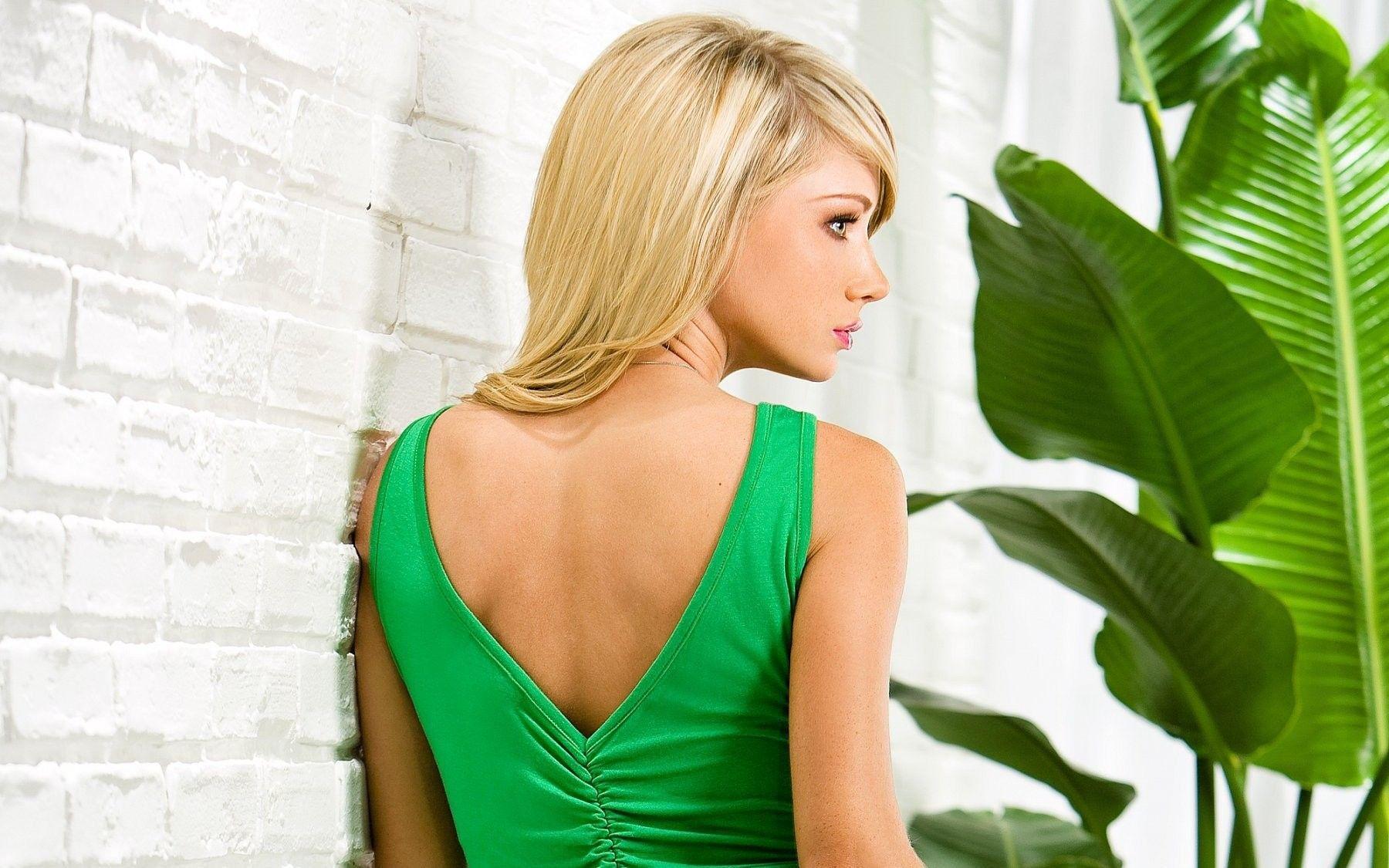 blondes women models sara jean underwood black dress High