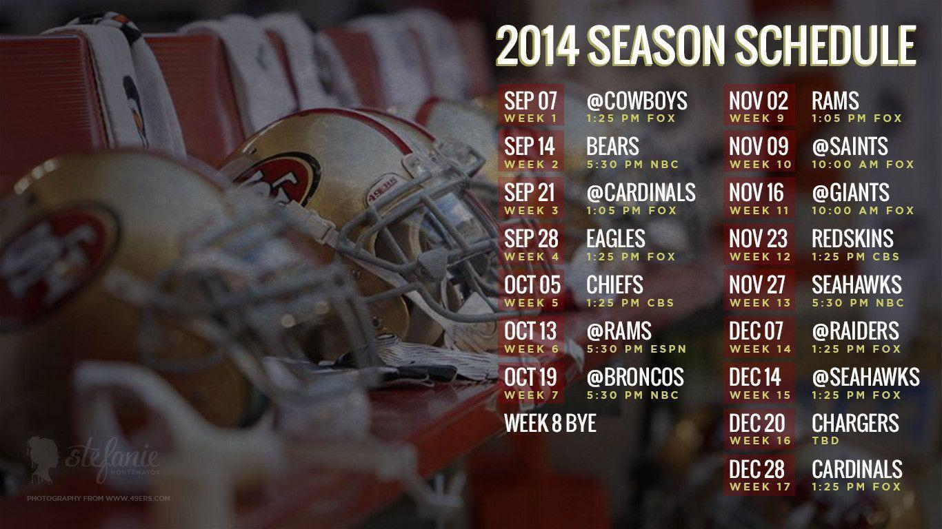 49ers 2014 schedule: Cell phone, desktop wallpaper, Google ...