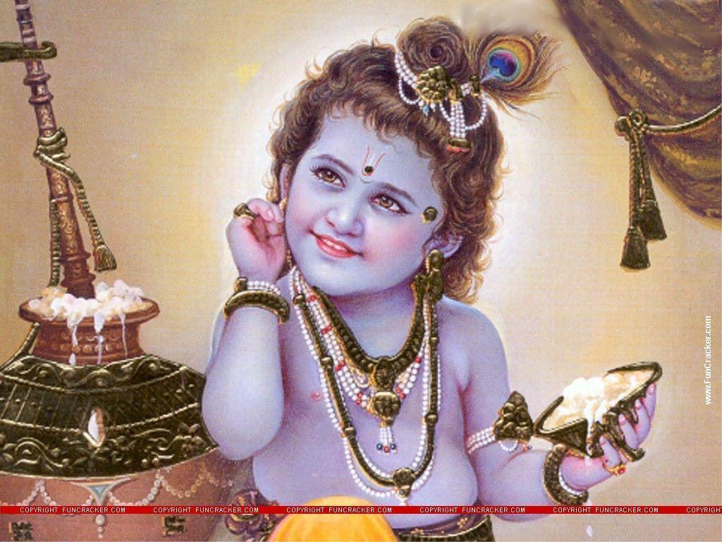 Wallpapers For > Lord Baby Krishna Wallpapers