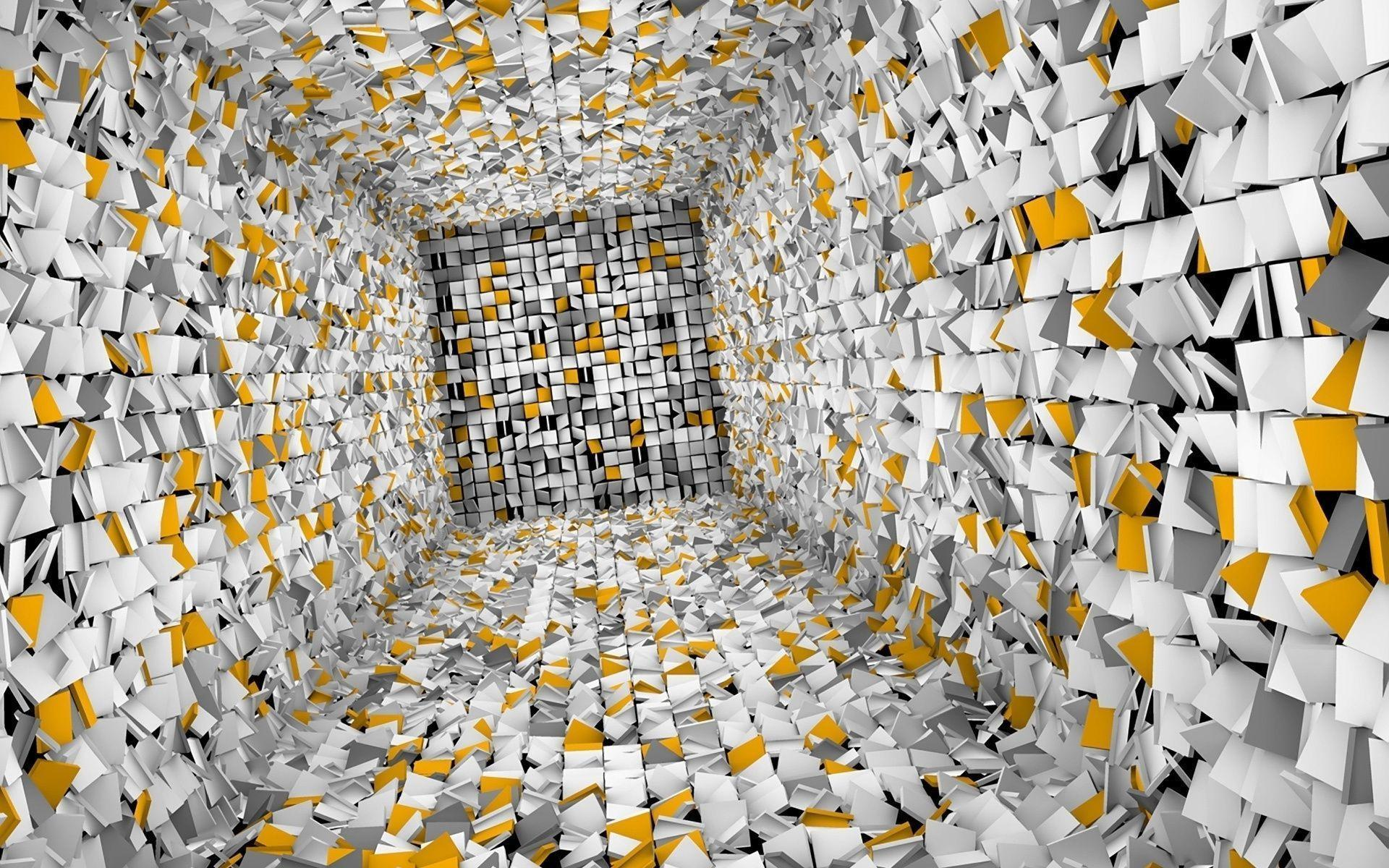 3D Cube Room Free Stock Photo and Wallpapers