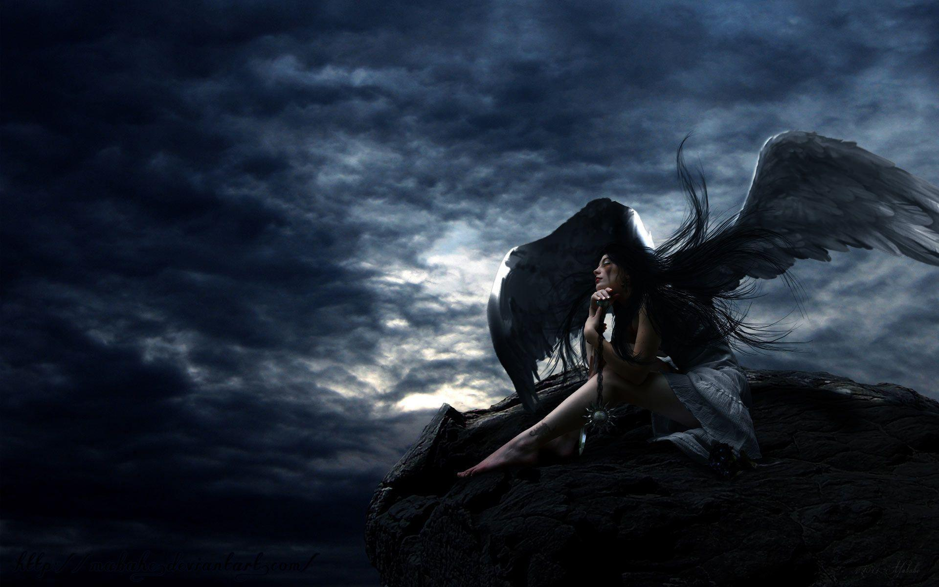 free wallpapers gothic angel lady 1920x1200 wallpaper