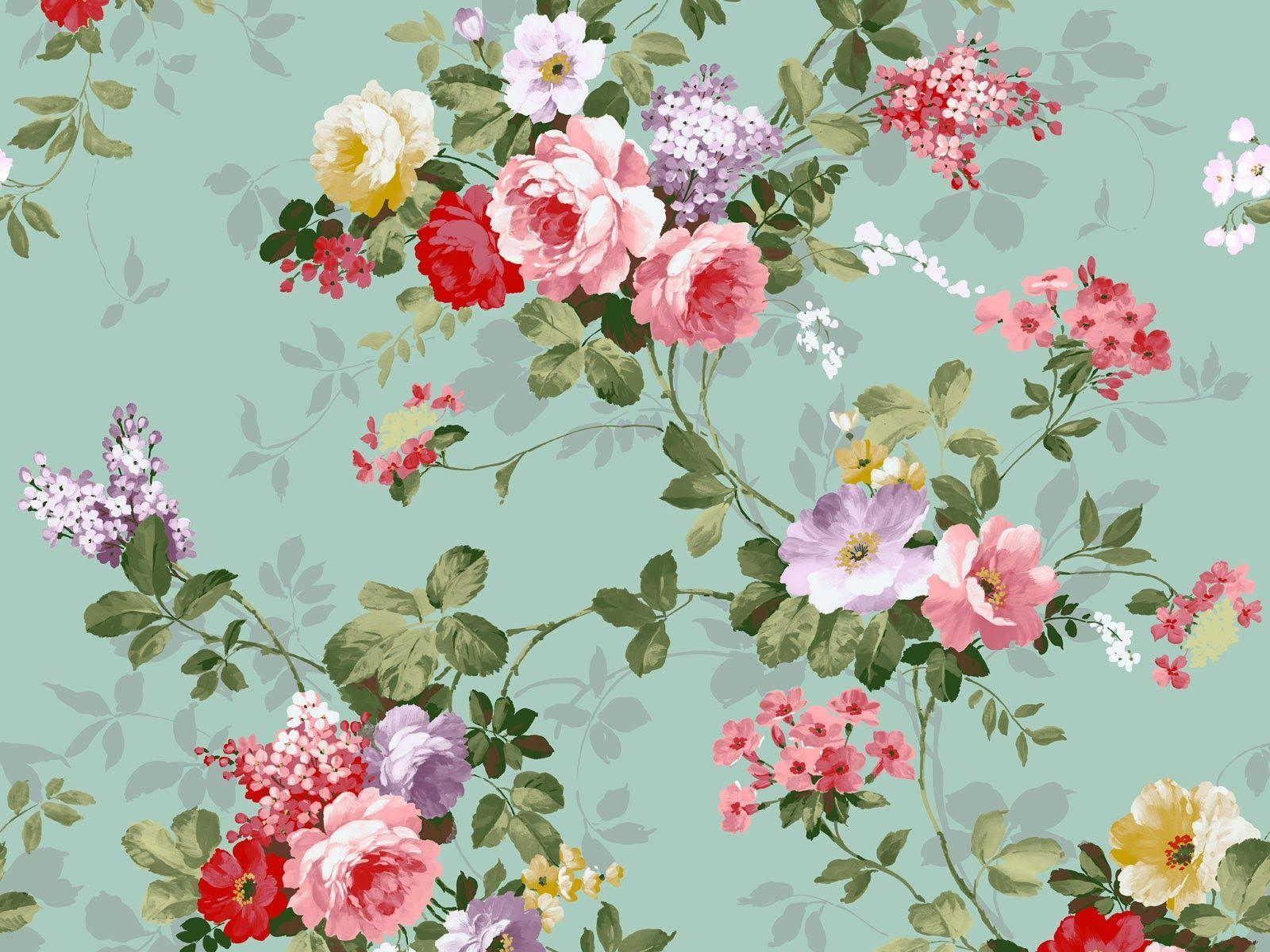Vintage Flowers Desktop Wallpapers Wallpaper Cave