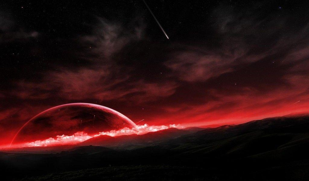 Spectacular Landscape Red Red Futuristic Landscape Wallpapers High